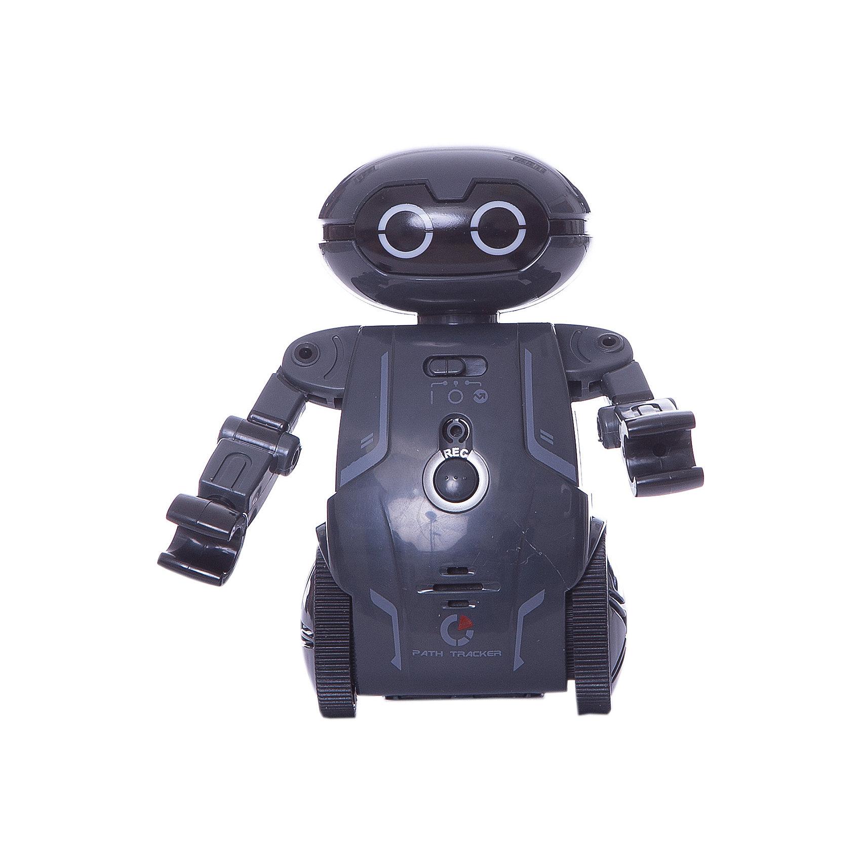Робот Мэйз брейкер (Maze Breaker), Silverlit, черныйРоботы<br>Характеристики товара:<br><br>• возраст: от 5 лет;<br>• материал: пластик;<br>• в комплекте: робот, путевая карта, инструкция;<br>• тип батареек: 2 батарейки ААА;<br>• наличие батареек: нет в комплекте;<br>• высота робота: 12,5 см;<br>• размер упаковки: 20,8х18,4х9,3 см;<br>• вес упаковки: 303 гр.;<br>• страна производитель: Китай.<br><br>Робот Maze Breaker Sirverlit черный — удивительный робот, который умеет двигаться, говорить и кататься по определенному маршруту. Робот работает в нескольких режимах. В режиме «Игра» Мейз Брейкер двигается, танцует и записывает голос. <br><br>Нажав на кнопку на груди робота, ребенок произнесет фразу, которую робот сохранит в памяти и затем воспроизведет. Чтобы послушать ее, достаточно щелкнуть пальцами или хлопнуть в ладоши. Он может сохранять до 3 записей. <br><br>В режиме «Определение маршрута» робот двигается по заданному направлению на специальном листе благодаря сенсорным датчикам. Он определяет заданный путь и четко следует указаниям, а может также прогуляться по лабиринту.<br><br>Робот оснащен световыми и звуковыми эффектами, делающими игру с ним еще увлекательней. У него горят глаза, а во время движения он издает звуки. Управлять роботом можно при помощи бесплатного мобильного приложения. <br><br>Робота Maze Breaker Sirverlit черного можно приобрести в нашем интернет-магазине.<br><br>Ширина мм: 208<br>Глубина мм: 184<br>Высота мм: 93<br>Вес г: 303<br>Возраст от месяцев: 60<br>Возраст до месяцев: 2147483647<br>Пол: Унисекс<br>Возраст: Детский<br>SKU: 5631987