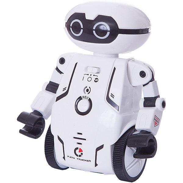 Робот Мэйз брейкер (Maze Breaker), Silverlit, белыйРоботы<br>Характеристики товара:<br><br>• возраст: от 5 лет;<br>• материал: пластик;<br>• в комплекте: робот, путевая карта, инструкция;<br>• тип батареек: 2 батарейки ААА;<br>• наличие батареек: нет в комплекте;<br>• высота робота: 12,5 см;<br>• размер упаковки: 20,8х18,4х9,3 см;<br>• вес упаковки: 303 гр.;<br>• страна производитель: Китай.<br><br>Робот Maze Breaker Sirverlit белый — удивительный робот, который умеет двигаться, говорить и кататься по определенному маршруту. Робот работает в нескольких режимах. В режиме «Игра» Мейз Брейкер двигается, танцует и записывает голос. <br><br>Нажав на кнопку на груди робота, ребенок произнесет фразу, которую робот сохранит в памяти и затем воспроизведет. Чтобы послушать ее, достаточно щелкнуть пальцами или хлопнуть в ладоши. Он может сохранять до 3 записей. <br><br>В режиме «Определение маршрута» робот двигается по заданному направлению на специальном листе благодаря сенсорным датчикам. Он определяет заданный путь и четко следует указаниям, а может также прогуляться по лабиринту.<br><br>Робот оснащен световыми и звуковыми эффектами, делающими игру с ним еще увлекательней. У него горят глаза, а во время движения он издает звуки. Управлять роботом можно при помощи бесплатного мобильного приложения. <br><br>Робота Maze Breaker Sirverlit белого можно приобрести в нашем интернет-магазине.<br>Ширина мм: 208; Глубина мм: 184; Высота мм: 93; Вес г: 303; Возраст от месяцев: 60; Возраст до месяцев: 2147483647; Пол: Унисекс; Возраст: Детский; SKU: 5631988;