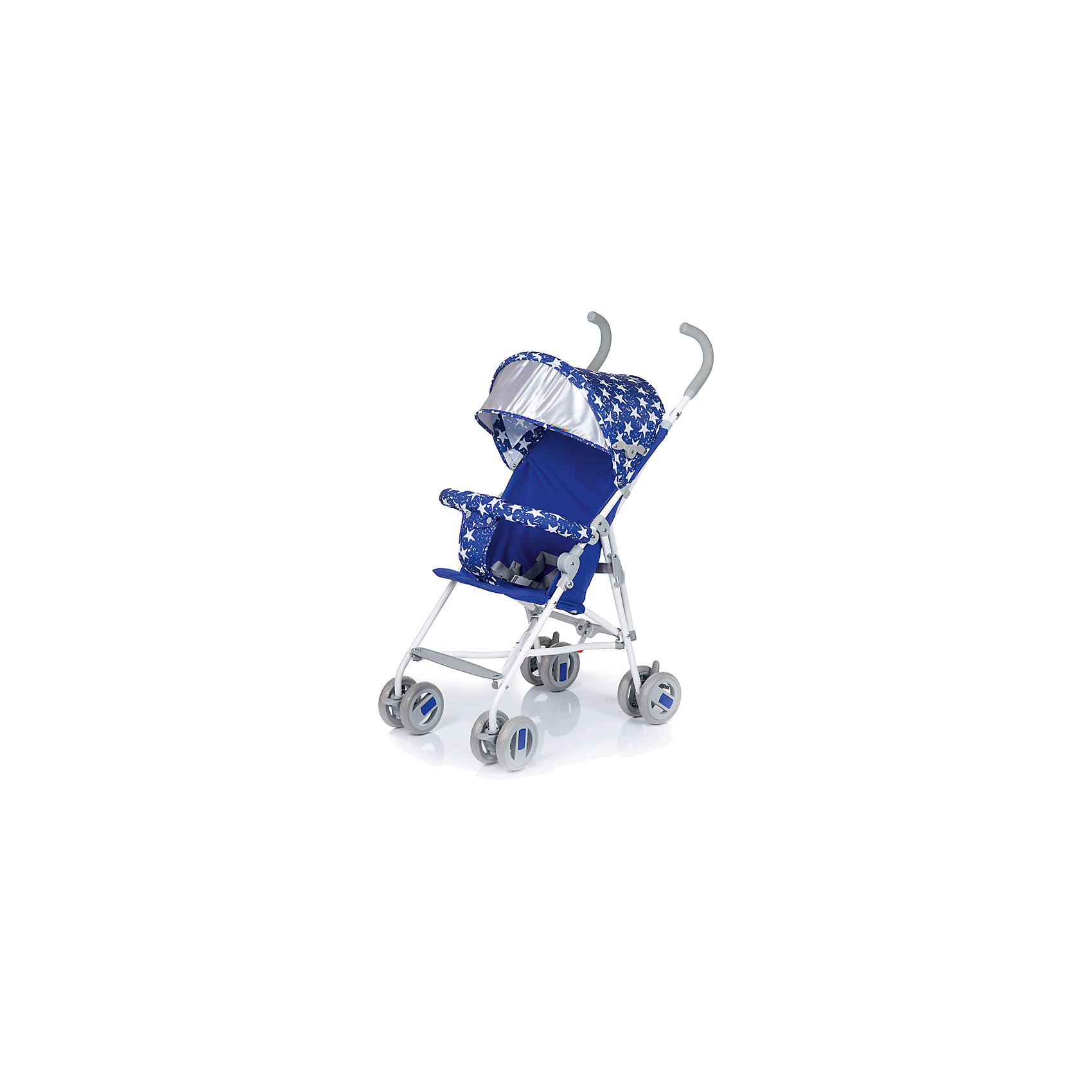 Коляска-трость BabyHit WEENY Звезды, синийКоляски-трости<br>Характеристики коляски:<br><br>• защитный бампер с мягким разделителем;<br>• защитный поясной ремень;<br>• капюшон оснащен широким солнцезащитным козырьком;<br>• малыш может поставить ножки на пластиковую подножку;<br>• сдвоенные колеса на передней и задней оси;<br>• передние «плавающие» колеса с фиксаторами;<br>• ножной тормоз;<br>• высота спинки: 46 см;<br>• диаметр колес: 12,7 см;<br>• тип складывания коляски: трость.<br><br>Обратите внимание: <br>• спинка и подножка коляски не регулируется;<br>• коляска без корзины для покупок.<br><br>Размер коляски: 75х45х93 см<br>Вес коляски: 4,1 кг<br>Размер коляски в сложенном виде: 109х29,5х27,5 см<br>Размер упаковки: 105х41х29 см<br>Вес в упаковке: 4,5 кг<br><br>Легкая и маневренная коляска-трость отлично подходит для путешествий с маленьким ребенком, не занимает много места в багажнике автомобиля, быстро складывается и раскладывается. Ребенок не соскользнет вниз благодаря защитному поручню с паховым ограничителем. Сдвоенные колеса можно зафиксировать, когда коляска едет по песку или гальке. Коляска оснащена тормозами на задних колесах. <br><br>Коляску-трость WEENY, Babyhit можно купить в нашем интернет-магазине.<br><br>Ширина мм: 1050<br>Глубина мм: 290<br>Высота мм: 410<br>Вес г: 4625<br>Возраст от месяцев: 7<br>Возраст до месяцев: 36<br>Пол: Унисекс<br>Возраст: Детский<br>SKU: 6668596