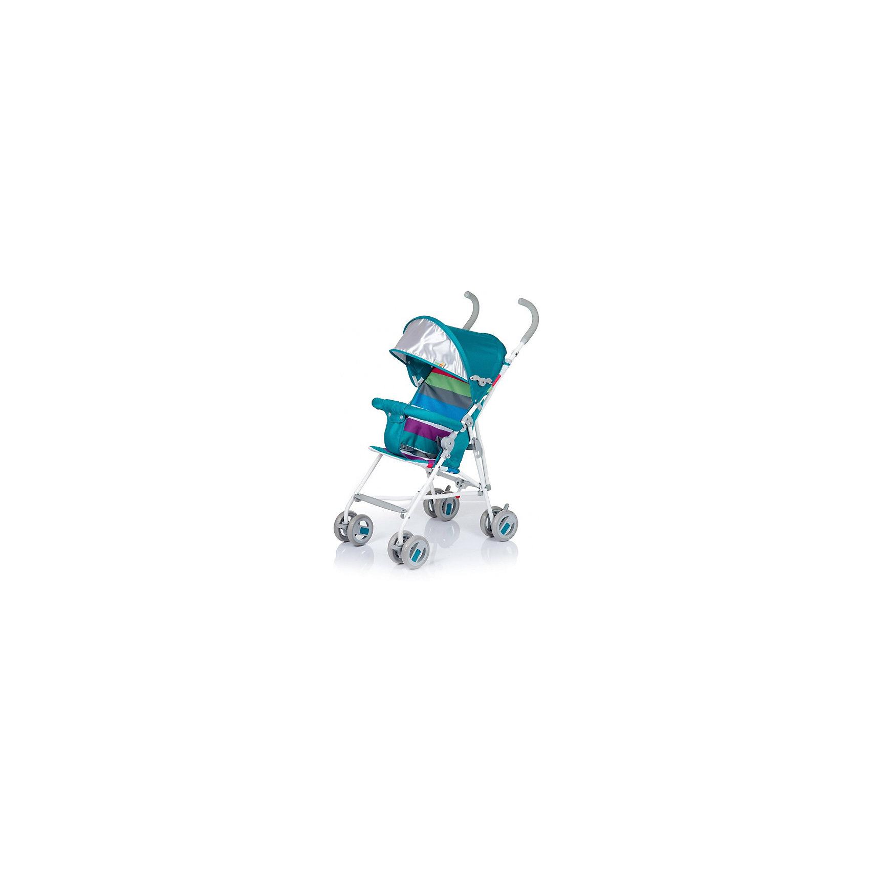 Коляска-трость BabyHit Weeny Marine Strips (полоска, голубой)Коляски-трости<br>Характеристики коляски:<br><br>• защитный бампер с мягким разделителем;<br>• защитный поясной ремень;<br>• капюшон оснащен широким солнцезащитным козырьком;<br>• малыш может поставить ножки на пластиковую подножку;<br>• сдвоенные колеса на передней и задней оси;<br>• передние «плавающие» колеса с фиксаторами;<br>• ножной тормоз;<br>• высота спинки: 46 см;<br>• диаметр колес: 12,7 см;<br>• тип складывания коляски: трость.<br><br>Обратите внимание: <br>• спинка и подножка коляски не регулируется;<br>• коляска без корзины для покупок.<br><br>Размер коляски: 75х45х93 см<br>Вес коляски: 4,1 кг<br>Размер коляски в сложенном виде: 109х29,5х27,5 см<br>Размер упаковки: 105х41х29 см<br>Вес в упаковке: 4,5 кг<br><br>Легкая и маневренная коляска-трость отлично подходит для путешествий с маленьким ребенком, не занимает много места в багажнике автомобиля, быстро складывается и раскладывается. Ребенок не соскользнет вниз благодаря защитному поручню с паховым ограничителем. Сдвоенные колеса можно зафиксировать, когда коляска едет по песку или гальке. Коляска оснащена тормозами на задних колесах. <br><br>Коляску-трость WEENY, Babyhit можно купить в нашем интернет-магазине.<br><br>Ширина мм: 1050<br>Глубина мм: 290<br>Высота мм: 410<br>Вес г: 4625<br>Возраст от месяцев: 7<br>Возраст до месяцев: 36<br>Пол: Унисекс<br>Возраст: Детский<br>SKU: 6668598
