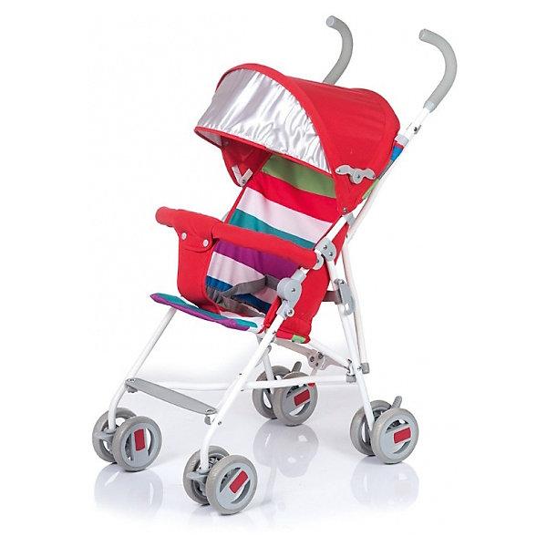 Коляска-трость BabyHit Weeny Red Strips (полоска, красный)Коляски-трости легкие до 6кг.<br>Характеристики коляски:<br><br>• защитный бампер с мягким разделителем;<br>• защитный поясной ремень;<br>• капюшон оснащен широким солнцезащитным козырьком;<br>• малыш может поставить ножки на пластиковую подножку;<br>• сдвоенные колеса на передней и задней оси;<br>• передние «плавающие» колеса с фиксаторами;<br>• ножной тормоз;<br>• высота спинки: 46 см;<br>• диаметр колес: 12,7 см;<br>• тип складывания коляски: трость.<br><br>Обратите внимание: <br>• спинка и подножка коляски не регулируется;<br>• коляска без корзины для покупок.<br><br>Размер коляски: 75х45х93 см<br>Вес коляски: 4,1 кг<br>Размер коляски в сложенном виде: 109х29,5х27,5 см<br>Размер упаковки: 105х41х29 см<br>Вес в упаковке: 4,5 кг<br><br>Легкая и маневренная коляска-трость отлично подходит для путешествий с маленьким ребенком, не занимает много места в багажнике автомобиля, быстро складывается и раскладывается. Ребенок не соскользнет вниз благодаря защитному поручню с паховым ограничителем. Сдвоенные колеса можно зафиксировать, когда коляска едет по песку или гальке. Коляска оснащена тормозами на задних колесах. <br><br>Коляску-трость WEENY, Babyhit можно купить в нашем интернет-магазине.<br><br>Ширина мм: 1050<br>Глубина мм: 290<br>Высота мм: 410<br>Вес г: 4625<br>Возраст от месяцев: 7<br>Возраст до месяцев: 36<br>Пол: Женский<br>Возраст: Детский<br>SKU: 6668599