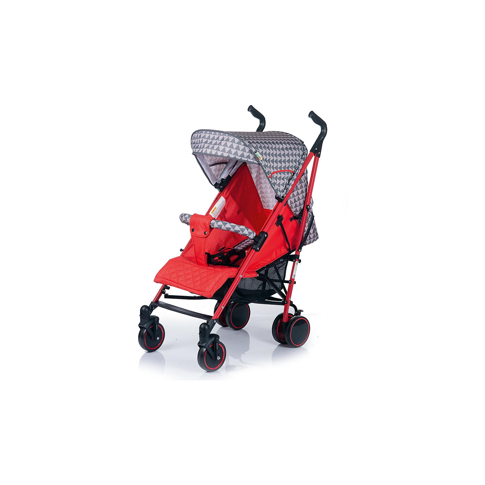 Коляска-трость BabyHit Handy, серый/красныйКоляски-трости более 7 кг.<br>Характеристики коляски:<br><br>Рама коляски:<br><br>• наклон спинки коляски регулируется до горизонтального положения;<br>• подножка регулируется;<br>• система 5-ти точечных ремней безопасности;<br>• глубокий капюшон «батискаф»;<br>• капюшон оснащен смотровым окошком;<br>• съемный поручень с паховым ремнем;<br>• чехол на ножки согревает ребенка в холодное время года;<br>• москитная сетка защищает кроху от насекомых;<br>• длина спального места: 75 см;<br>• ширина сиденья: 35 см;<br>• глубина сиденья: 21 см;<br>• высота спинки:  47 см.<br><br>Рама коляски:<br><br>• одинарные передние поворотные колеса с фиксацией в положении «прямо»;<br>• ручки коляски регулируются по высоте;<br>• система амортизации на всех колесах;<br>• корзина для покупок;<br>• тип складывания: трость;<br>• высота до ручки: 87-107 см;<br>• диаметр передних колес: 14 см;<br>• диаметр задних колес: 15 см.<br><br>Размеры коляски в разложенном виде: 83х50х107 см<br>Размеры коляски в сложенном виде: 107х33х33 см<br>Вес коляски: 8 кг<br><br>Коляску-трость Babyhit Handy можно купить в нашем интернет-магазине.<br><br>Ширина мм: 300<br>Глубина мм: 230<br>Высота мм: 1000<br>Вес г: 9850<br>Возраст от месяцев: 6<br>Возраст до месяцев: 36<br>Пол: Унисекс<br>Возраст: Детский<br>SKU: 6668605