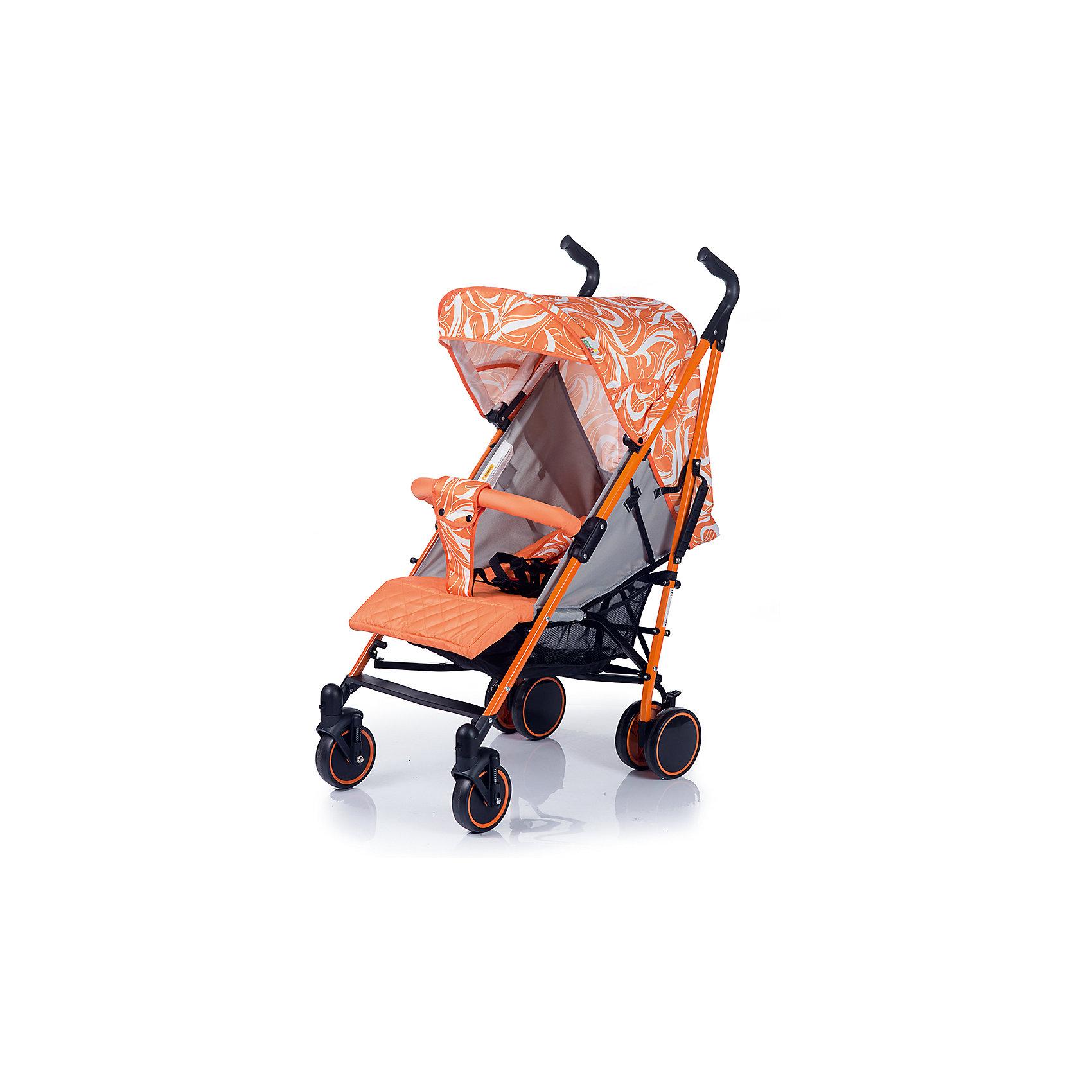 Коляска-трость BabyHit Handy, белый/оранжевыйКоляски-трости<br>Характеристики коляски:<br><br>Рама коляски:<br><br>• наклон спинки коляски регулируется до горизонтального положения;<br>• подножка регулируется;<br>• система 5-ти точечных ремней безопасности;<br>• глубокий капюшон «батискаф»;<br>• капюшон оснащен смотровым окошком;<br>• съемный поручень с паховым ремнем;<br>• чехол на ножки согревает ребенка в холодное время года;<br>• москитная сетка защищает кроху от насекомых;<br>• длина спального места: 75 см;<br>• ширина сиденья: 35 см;<br>• глубина сиденья: 21 см;<br>• высота спинки:  47 см.<br><br>Рама коляски:<br><br>• одинарные передние поворотные колеса с фиксацией в положении «прямо»;<br>• ручки коляски регулируются по высоте;<br>• система амортизации на всех колесах;<br>• корзина для покупок;<br>• тип складывания: трость;<br>• высота до ручки: 87-107 см;<br>• диаметр передних колес: 14 см;<br>• диаметр задних колес: 15 см.<br><br>Размеры коляски в разложенном виде: 83х50х107 см<br>Размеры коляски в сложенном виде: 107х33х33 см<br>Вес коляски: 8 кг<br><br>Коляску-трость Babyhit Handy можно купить в нашем интернет-магазине.<br><br>Ширина мм: 300<br>Глубина мм: 230<br>Высота мм: 1000<br>Вес г: 9850<br>Возраст от месяцев: 6<br>Возраст до месяцев: 36<br>Пол: Унисекс<br>Возраст: Детский<br>SKU: 6668606
