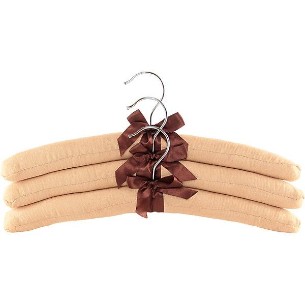 Вешалки 3 шт. 38*3,2*13,8 см. Бежевые с коричневым бантиком, EL CasaДетские предметы интерьера<br>Характеристики товара:<br><br>• цвет: мульти<br>• материал: металл, текстиль<br>• размер: 38х13х3 см<br>• вес: 220 г<br>• комплектация: 3 шт<br>• для деликатных вещей<br>• помогают избежать растяжек и провисаний<br>• прочные<br>• легкие<br>• универсальный размер<br>• страна бренда: Российская Федерация<br>• страна производства: Китай<br><br>Одежду необходимо не только правильно стирать, чистить, сушить, но и бережно хранить в шкафу - тогда она прослужит дольше и будет выглядеть красивее.<br><br>Такие вешалки отлично подходят для размещения деликатных вещей: они мягкие, с удобной конструкцией - так одежда будет держать правильную форму и не сминаться.<br><br>Бренд EL Casa - это красивые и практичные товары для дома с современным дизайном. Они добавляют в жильё уюта и комфорта! <br><br>Вешалки 3 шт., Бежевые с коричневым бантиком, EL Casa можно купить в нашем интернет-магазине.<br><br>Ширина мм: 390<br>Глубина мм: 35<br>Высота мм: 200<br>Вес г: 228<br>Возраст от месяцев: 0<br>Возраст до месяцев: 1188<br>Пол: Унисекс<br>Возраст: Детский<br>SKU: 6668634
