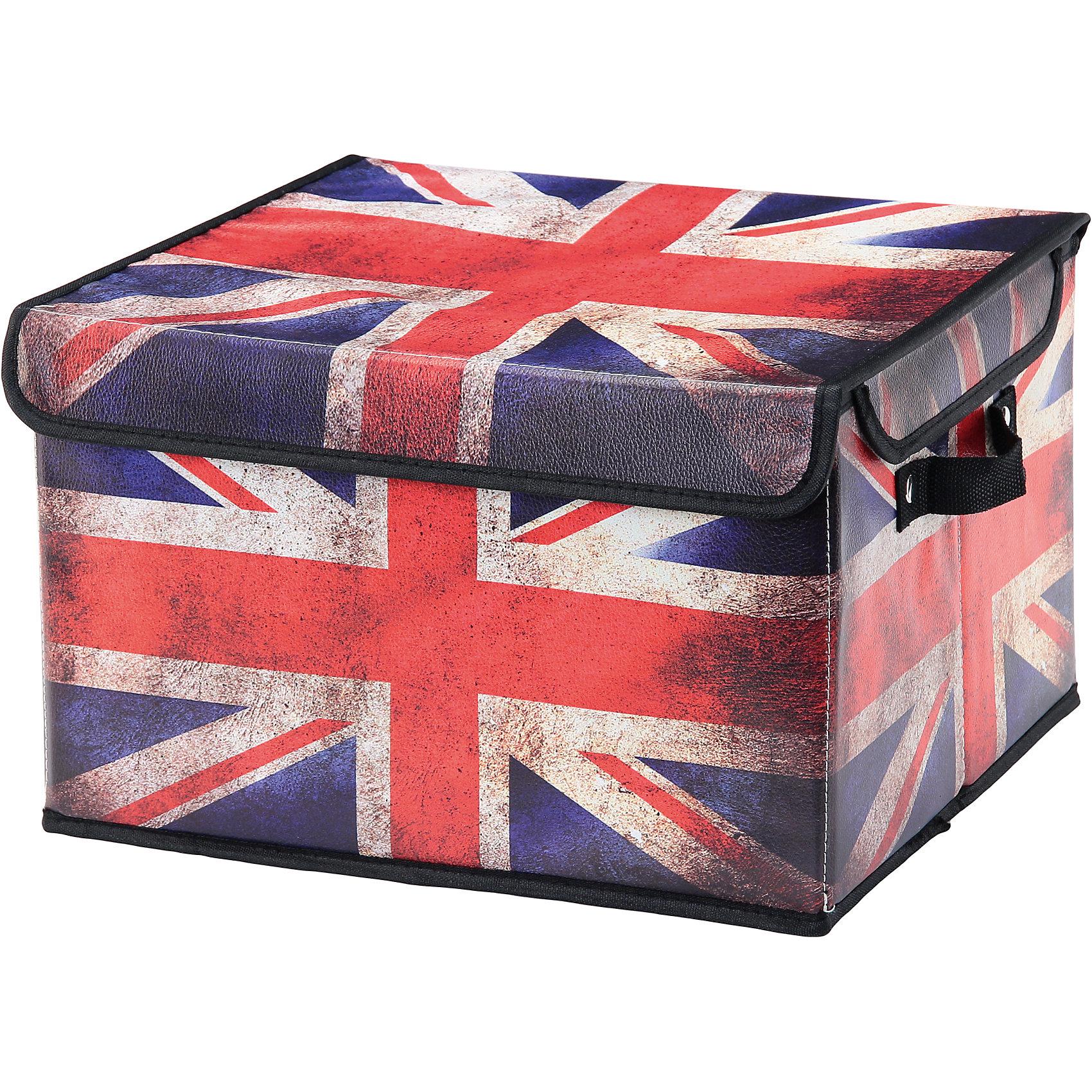 Кофр складной для хранения 37*31*23 см. Британский флаг, EL CasaПорядок в детской<br>Характеристики товара:<br><br>• цвет: мульти<br>• материал: текстиль, искусственная кожа<br>• размер: 37х31х23 см<br>• вес: 500 г<br>• застежка: липучка<br>• декорирован принтом<br>• складывается и раскладывается одним движением<br>• удобный<br>• с двумя ручками<br>• универсальный размер<br>• страна бренда: Российская Федерация<br>• страна производства: Китай<br><br>Такой кофр - отличный пример красивой и функциональной вещи для любого интерьера. В нем удобной хранить различные мелочи, благодаря универсальному дизайну и расцветке он хорошо будет смотреться в помещении.<br><br>Кофр с жёстким каркасом для хранения может стать отличным приобретением для дома или подарком для любителей красивых оригинальных вещей.<br><br>Бренд EL Casa - это красивые и практичные товары для дома с современным дизайном. Они добавляют в жильё уюта и комфорта! <br><br>Кофр складной для хранения 37*31*23 см. Британский флаг, EL Casa можно купить в нашем интернет-магазине.<br><br>Ширина мм: 370<br>Глубина мм: 310<br>Высота мм: 20<br>Вес г: 1094<br>Возраст от месяцев: 0<br>Возраст до месяцев: 1188<br>Пол: Унисекс<br>Возраст: Детский<br>SKU: 6668659