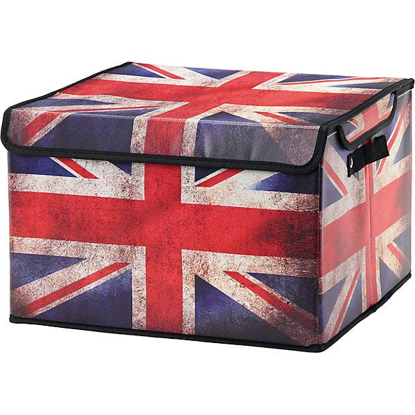 Кофр складной для хранения 41*36*26 см. Британский флаг, EL CasaОрганайзеры для одежды<br>Характеристики товара:<br><br>• цвет: мульти<br>• материал: текстиль, искусственная кожа<br>• размер: 41х36х26 см<br>• вес: 500 г<br>• застежка: липучка<br>• декорирован принтом<br>• складывается и раскладывается одним движением<br>• удобный<br>• с двумя ручками<br>• универсальный размер<br>• страна бренда: Российская Федерация<br>• страна производства: Китай<br><br>Такой кофр - отличный пример красивой и функциональной вещи для любого интерьера. В нем удобной хранить различные мелочи, благодаря универсальному дизайну и расцветке он хорошо будет смотреться в помещении.<br><br>Кофр с жёстким каркасом для хранения может стать отличным приобретением для дома или подарком для любителей красивых оригинальных вещей.<br><br>Бренд EL Casa - это красивые и практичные товары для дома с современным дизайном. Они добавляют в жильё уюта и комфорта! <br><br>Кофр складной для хранения 41*36*26 см. Британский флаг, EL Casa можно купить в нашем интернет-магазине.<br><br>Ширина мм: 410<br>Глубина мм: 360<br>Высота мм: 20<br>Вес г: 1375<br>Возраст от месяцев: 0<br>Возраст до месяцев: 1188<br>Пол: Унисекс<br>Возраст: Детский<br>SKU: 6668663
