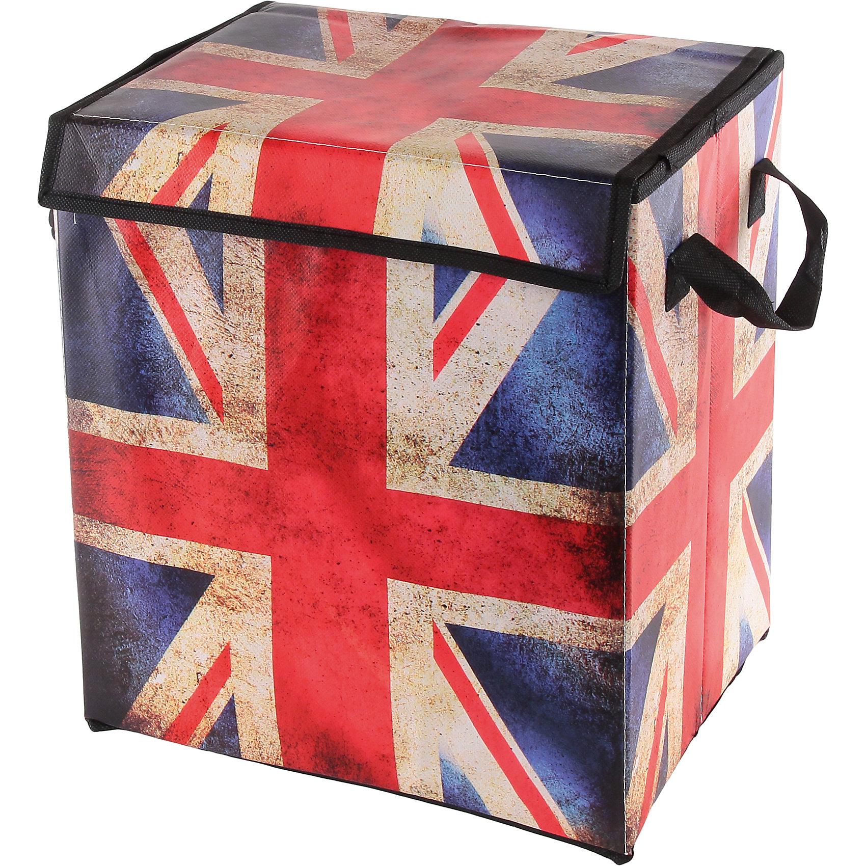 Кофр складной для хранения 30*22*32 см. Британский флаг, EL CasaПорядок в детской<br>Характеристики товара:<br><br>• цвет: мульти<br>• материал: текстиль, искусственная кожа<br>• размер: 30х22х32 см<br>• вес: 300 г<br>• застежка: липучка<br>• декорирован принтом<br>• складывается и раскладывается одним движением<br>• удобный<br>• с двумя ручками<br>• универсальный размер<br>• страна бренда: Российская Федерация<br>• страна производства: Китай<br><br>Такой кофр - отличный пример красивой и функциональной вещи для любого интерьера. В нем удобной хранить различные мелочи, благодаря универсальному дизайну и расцветке он хорошо будет смотреться в помещении.<br><br>Кофр с жёстким каркасом для хранения может стать отличным приобретением для дома или подарком для любителей красивых оригинальных вещей.<br><br>Бренд EL Casa - это красивые и практичные товары для дома с современным дизайном. Они добавляют в жильё уюта и комфорта! <br><br>Кофр складной для хранения 30*22*32 см. Британский флаг, EL Casa можно купить в нашем интернет-магазине.<br><br>Ширина мм: 300<br>Глубина мм: 220<br>Высота мм: 20<br>Вес г: 300<br>Возраст от месяцев: 0<br>Возраст до месяцев: 1188<br>Пол: Унисекс<br>Возраст: Детский<br>SKU: 6668664
