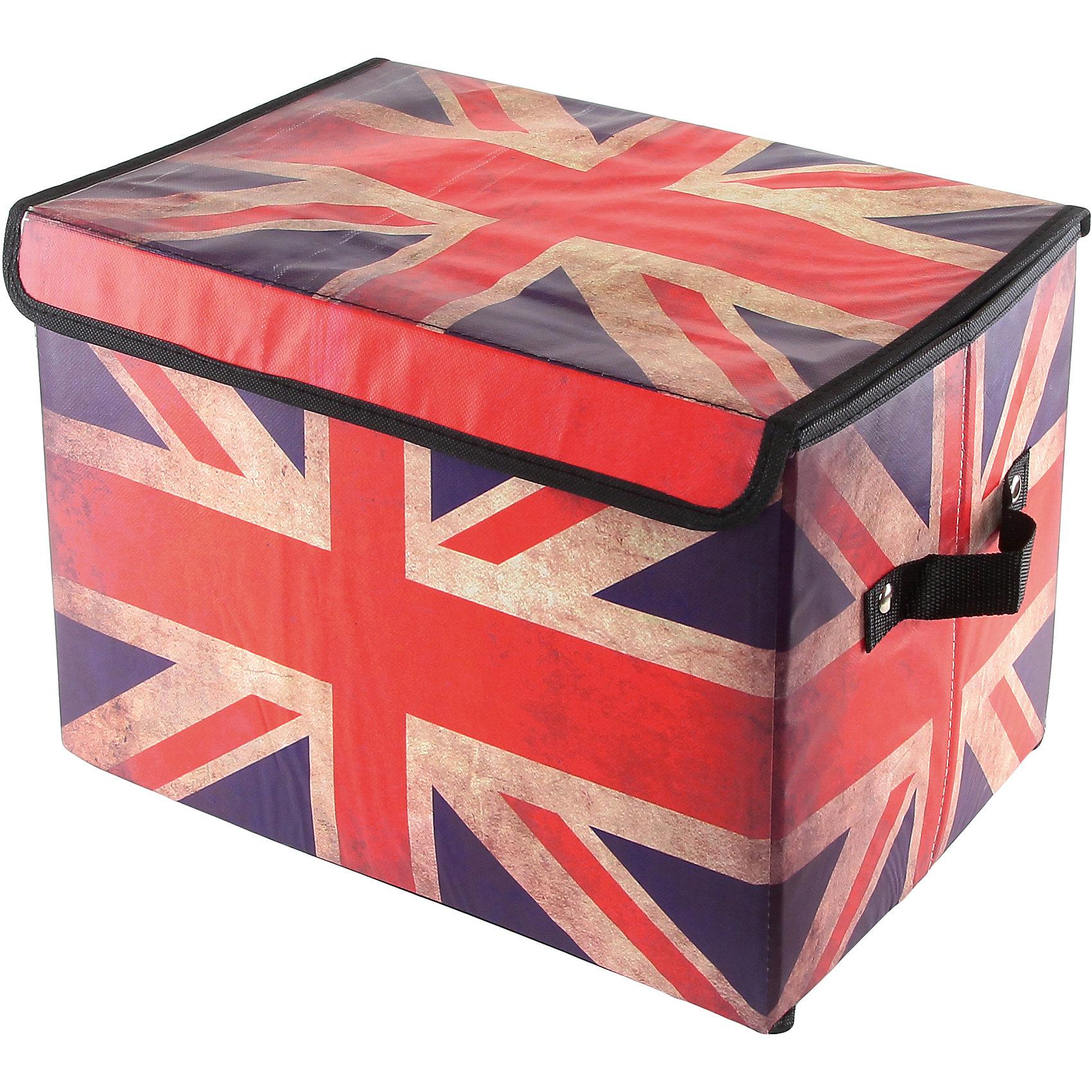 Кофр складной для хранения 39*26*26 см. Британский флаг, EL CasaПорядок в детской<br>Кофр с жёстким каркасом для храненияa с двумя ручками в популярном стиде Британский флаг.  В нем можно хранить всевозможные предметы: книги, игрушки, рукоделие.   Яркий дизайн кофра привнесет в Ваш интерьер неповторимый шарм.<br><br>Ширина мм: 390<br>Глубина мм: 260<br>Высота мм: 20<br>Вес г: 400<br>Возраст от месяцев: 0<br>Возраст до месяцев: 1188<br>Пол: Унисекс<br>Возраст: Детский<br>SKU: 6668665