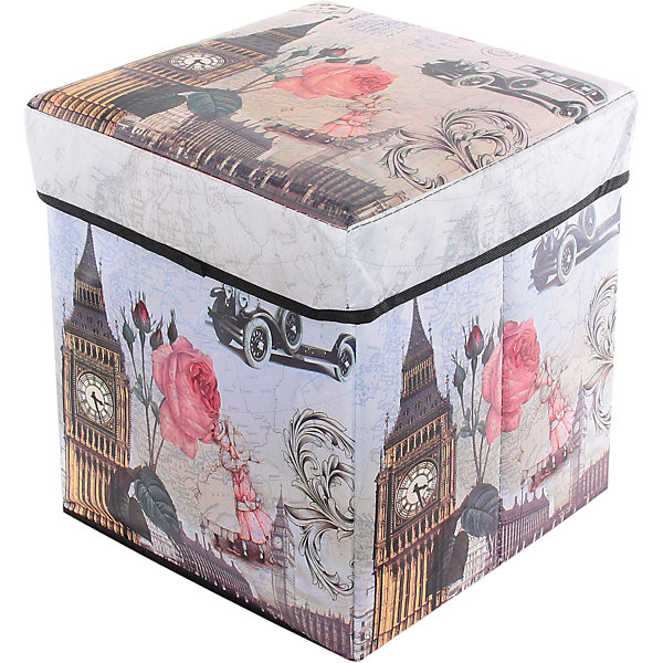 Пуф складной с ящиком для хранения 31*31*31 см. Биг Бен, EL CasaЯщики для игрушек<br>Характеристики товара:<br><br>• цвет: мульти<br>• материал: МДФ, экокожа<br>• размер: 31 х 31 х 31 см<br>• вес: 800 г<br>• легко складывается<br>• декорирован принтом<br>• с ящиком для хранения<br>• удобный<br>• вместительный<br>• универсальный размер<br>• страна бренда: Российская Федерация<br>• страна производства: Китай<br><br>Такой пуф - отличный пример красивой и функциональной вещи для любого интерьера. В нем удобной хранить различные мелочи, благодаря универсальному дизайну и расцветке он хорошо будет смотреться в помещении.<br><br>Пуф для хранения может стать отличным приобретением для дома или подарком для любителей красивых оригинальных вещей.<br><br>Бренд EL Casa - это красивые и практичные товары для дома с современным дизайном. Они добавляют в жильё уюта и комфорта! <br><br>Пуф складной с ящиком для хранения 31*31*31 см. Биг Бен, EL Casa можно купить в нашем интернет-магазине.<br><br>Ширина мм: 310<br>Глубина мм: 310<br>Высота мм: 45<br>Вес г: 833<br>Возраст от месяцев: 0<br>Возраст до месяцев: 1188<br>Пол: Унисекс<br>Возраст: Детский<br>SKU: 6668671