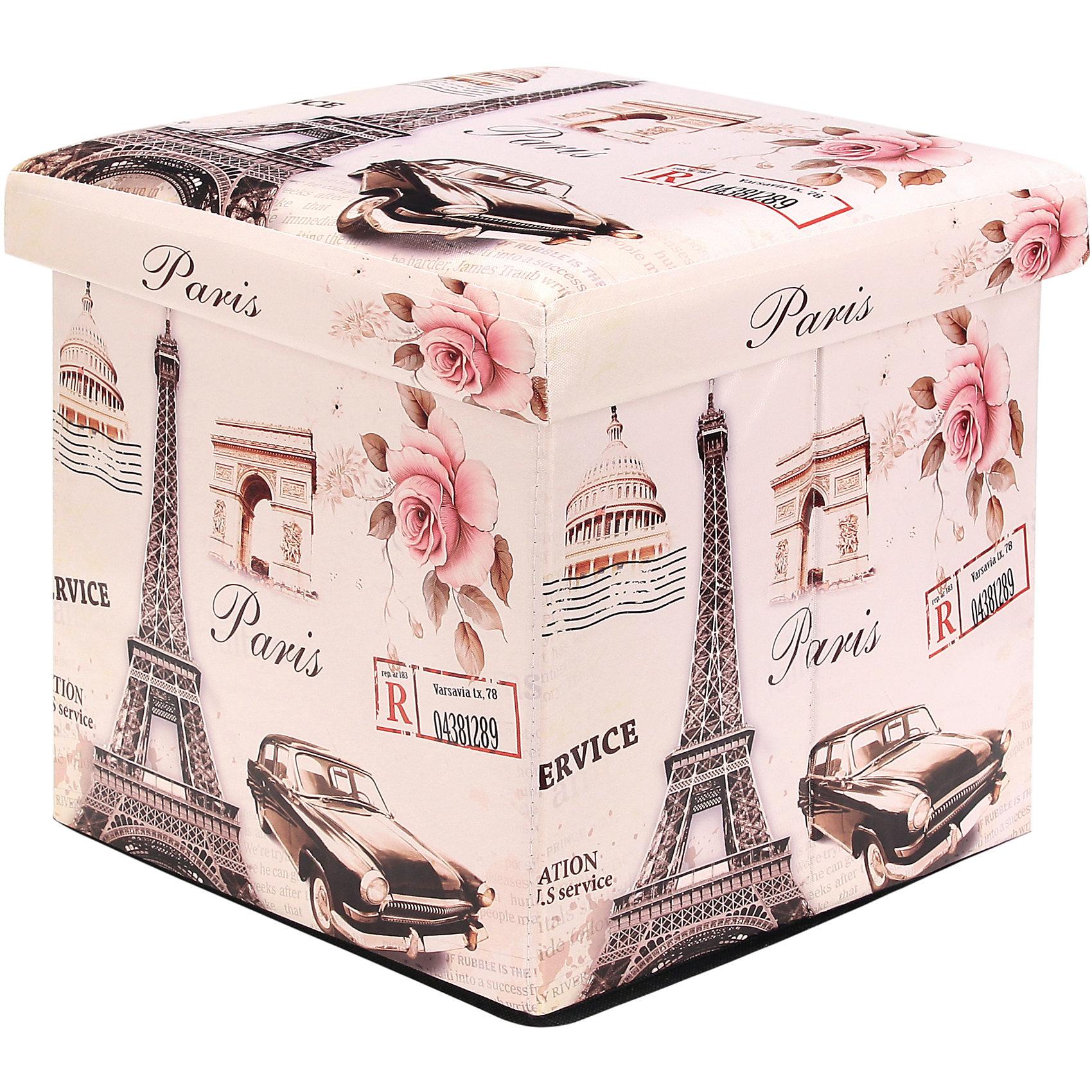 Пуф складной с ящиком для хранения 35*35*35 см. Эйфелева башня, EL CasaПорядок в детской<br>Характеристики товара:<br><br>• цвет: мульти<br>• материал: МДФ, экокожа<br>• размер: 35 х 35 х 35 см<br>• вес: 1000 г<br>• легко складывается<br>• декорирован принтом<br>• с ящиком для хранения<br>• удобный<br>• вместительный<br>• универсальный размер<br>• страна бренда: Российская Федерация<br>• страна производства: Китай<br><br>Такой пуф - отличный пример красивой и функциональной вещи для любого интерьера. В нем удобной хранить различные мелочи, благодаря универсальному дизайну и расцветке он хорошо будет смотреться в помещении.<br><br>Пуф для хранения может стать отличным приобретением для дома или подарком для любителей красивых оригинальных вещей.<br><br>Бренд EL Casa - это красивые и практичные товары для дома с современным дизайном. Они добавляют в жильё уюта и комфорта! <br><br>Пуф складной с ящиком для хранения 35*35*35 см. Эйфелева башня, EL Casa можно купить в нашем интернет-магазине.<br><br>Ширина мм: 350<br>Глубина мм: 350<br>Высота мм: 50<br>Вес г: 2050<br>Возраст от месяцев: 0<br>Возраст до месяцев: 1188<br>Пол: Унисекс<br>Возраст: Детский<br>SKU: 6668673