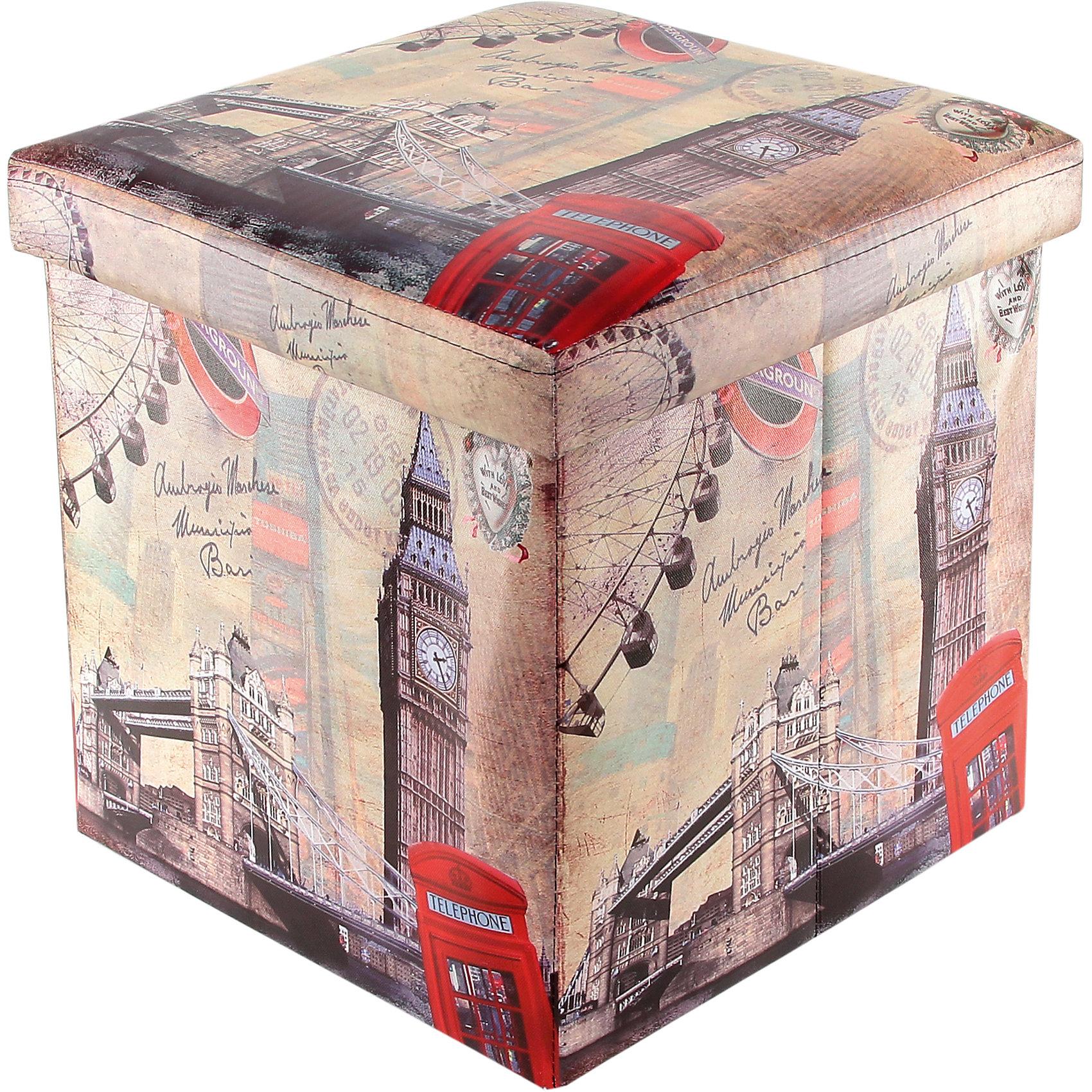 Пуф складной с ящиком для хранения 35*35*35 см. Лондон Биг Бен, EL CasaПорядок в детской<br>Характеристики товара:<br><br>• цвет: мульти<br>• материал: МДФ, экокожа<br>• размер: 35 х 35 х 35 см<br>• вес: 1000 г<br>• легко складывается<br>• декорирован принтом<br>• с ящиком для хранения<br>• удобный<br>• вместительный<br>• универсальный размер<br>• страна бренда: Российская Федерация<br>• страна производства: Китай<br><br>Такой пуф - отличный пример красивой и функциональной вещи для любого интерьера. В нем удобной хранить различные мелочи, благодаря универсальному дизайну и расцветке он хорошо будет смотреться в помещении.<br><br>Пуф для хранения может стать отличным приобретением для дома или подарком для любителей красивых оригинальных вещей.<br><br>Бренд EL Casa - это красивые и практичные товары для дома с современным дизайном. Они добавляют в жильё уюта и комфорта! <br><br>Пуф складной с ящиком для хранения 35*35*35 см. Лондон Биг Бен, EL Casa можно купить в нашем интернет-магазине.<br><br>Ширина мм: 350<br>Глубина мм: 350<br>Высота мм: 50<br>Вес г: 1250<br>Возраст от месяцев: 0<br>Возраст до месяцев: 1188<br>Пол: Унисекс<br>Возраст: Детский<br>SKU: 6668676