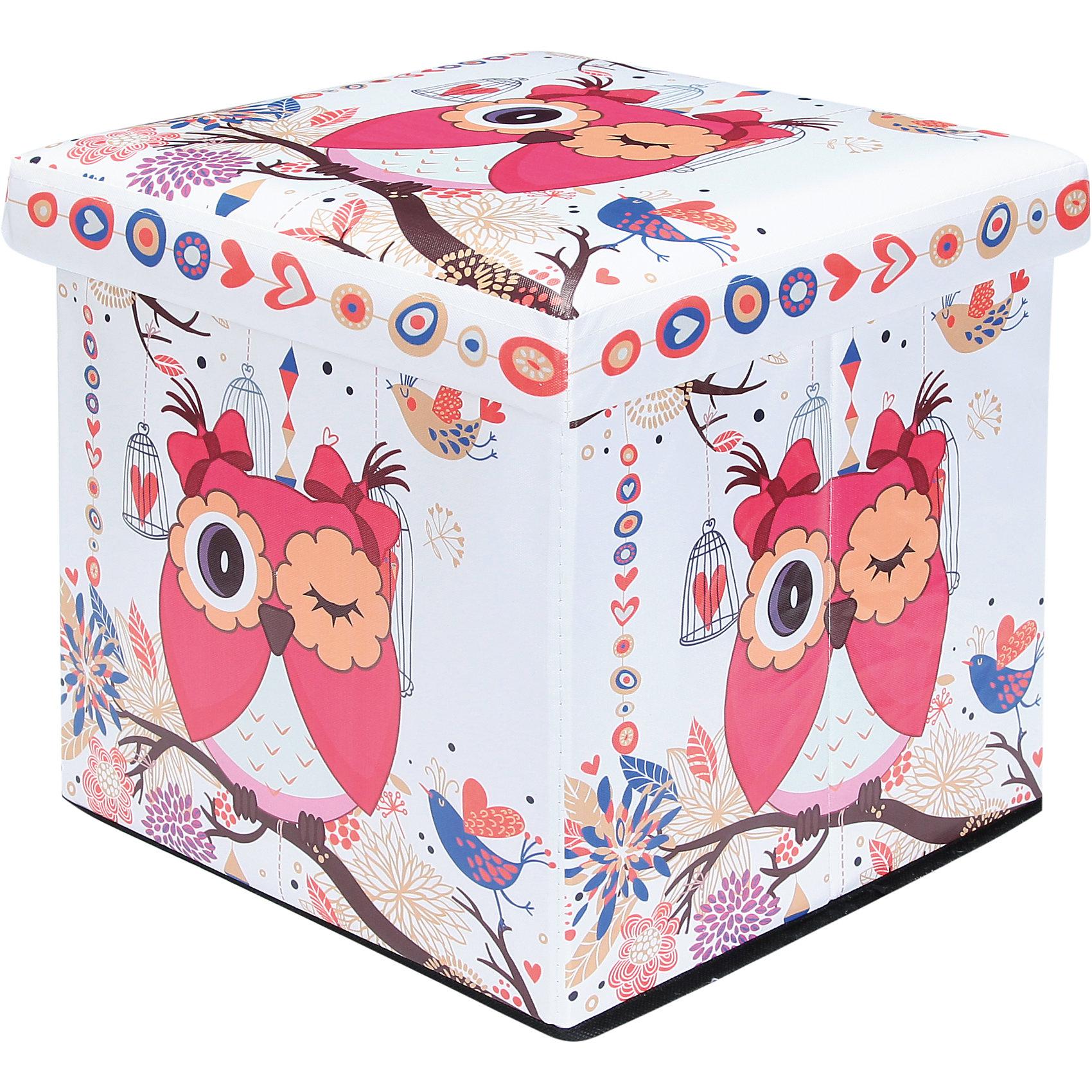 Пуф складной с ящиком для хранения 35*35*35 см. Забавная сова, EL CasaПорядок в детской<br>Характеристики товара:<br><br>• цвет: мульти<br>• материал: МДФ, экокожа<br>• размер: 35 х 35 х 35 см<br>• вес: 1000 г<br>• легко складывается<br>• декорирован принтом<br>• с ящиком для хранения<br>• удобный<br>• вместительный<br>• универсальный размер<br>• страна бренда: Российская Федерация<br>• страна производства: Китай<br><br>Такой пуф - отличный пример красивой и функциональной вещи для любого интерьера. В нем удобной хранить различные мелочи, благодаря универсальному дизайну и расцветке он хорошо будет смотреться в помещении.<br><br>Пуф для хранения может стать отличным приобретением для дома или подарком для любителей красивых оригинальных вещей.<br><br>Бренд EL Casa - это красивые и практичные товары для дома с современным дизайном. Они добавляют в жильё уюта и комфорта! <br><br>Пуф складной с ящиком для хранения 35*35*35 см. Забавная сова, EL Casa можно купить в нашем интернет-магазине.<br><br>Ширина мм: 350<br>Глубина мм: 350<br>Высота мм: 50<br>Вес г: 2050<br>Возраст от месяцев: 0<br>Возраст до месяцев: 1188<br>Пол: Унисекс<br>Возраст: Детский<br>SKU: 6668679