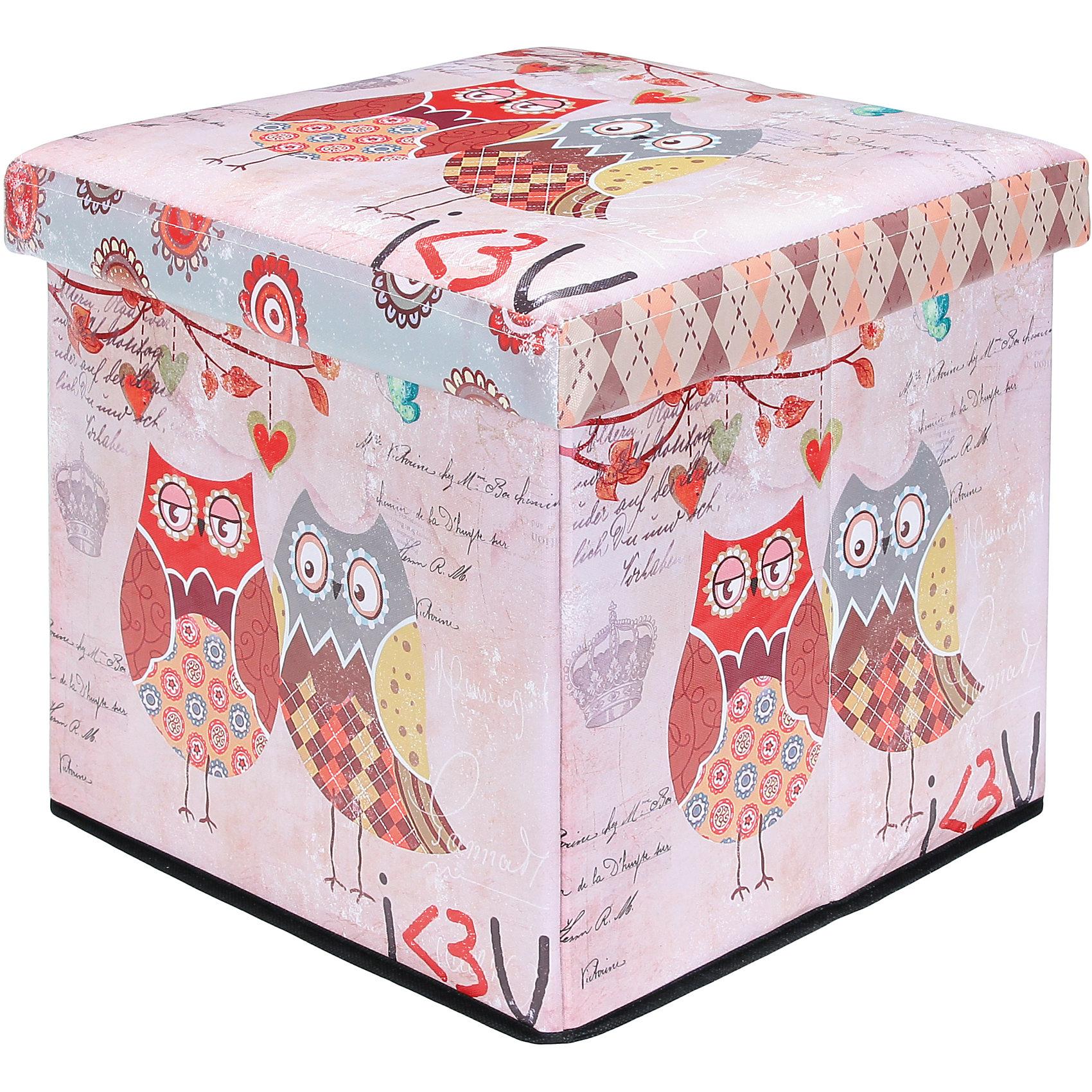 Пуф складной с ящиком для хранения 35*35*35 см. Забавные совы, EL CasaПорядок в детской<br>Характеристики товара:<br><br>• цвет: мульти<br>• материал: МДФ, экокожа<br>• размер: 35 х 35 х 35 см<br>• вес: 1000 г<br>• легко складывается<br>• декорирован принтом<br>• с ящиком для хранения<br>• удобный<br>• вместительный<br>• универсальный размер<br>• страна бренда: Российская Федерация<br>• страна производства: Китай<br><br>Такой пуф - отличный пример красивой и функциональной вещи для любого интерьера. В нем удобной хранить различные мелочи, благодаря универсальному дизайну и расцветке он хорошо будет смотреться в помещении.<br><br>Пуф для хранения может стать отличным приобретением для дома или подарком для любителей красивых оригинальных вещей.<br><br>Бренд EL Casa - это красивые и практичные товары для дома с современным дизайном. Они добавляют в жильё уюта и комфорта! <br><br>Пуф складной с ящиком для хранения 35*35*35 см. Забавные совы, EL Casa можно купить в нашем интернет-магазине.<br><br>Ширина мм: 350<br>Глубина мм: 350<br>Высота мм: 50<br>Вес г: 2050<br>Возраст от месяцев: 0<br>Возраст до месяцев: 1188<br>Пол: Унисекс<br>Возраст: Детский<br>SKU: 6668680
