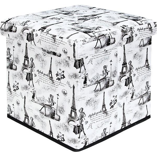 Пуф складной с ящиком для хранения 35*35*35 см.