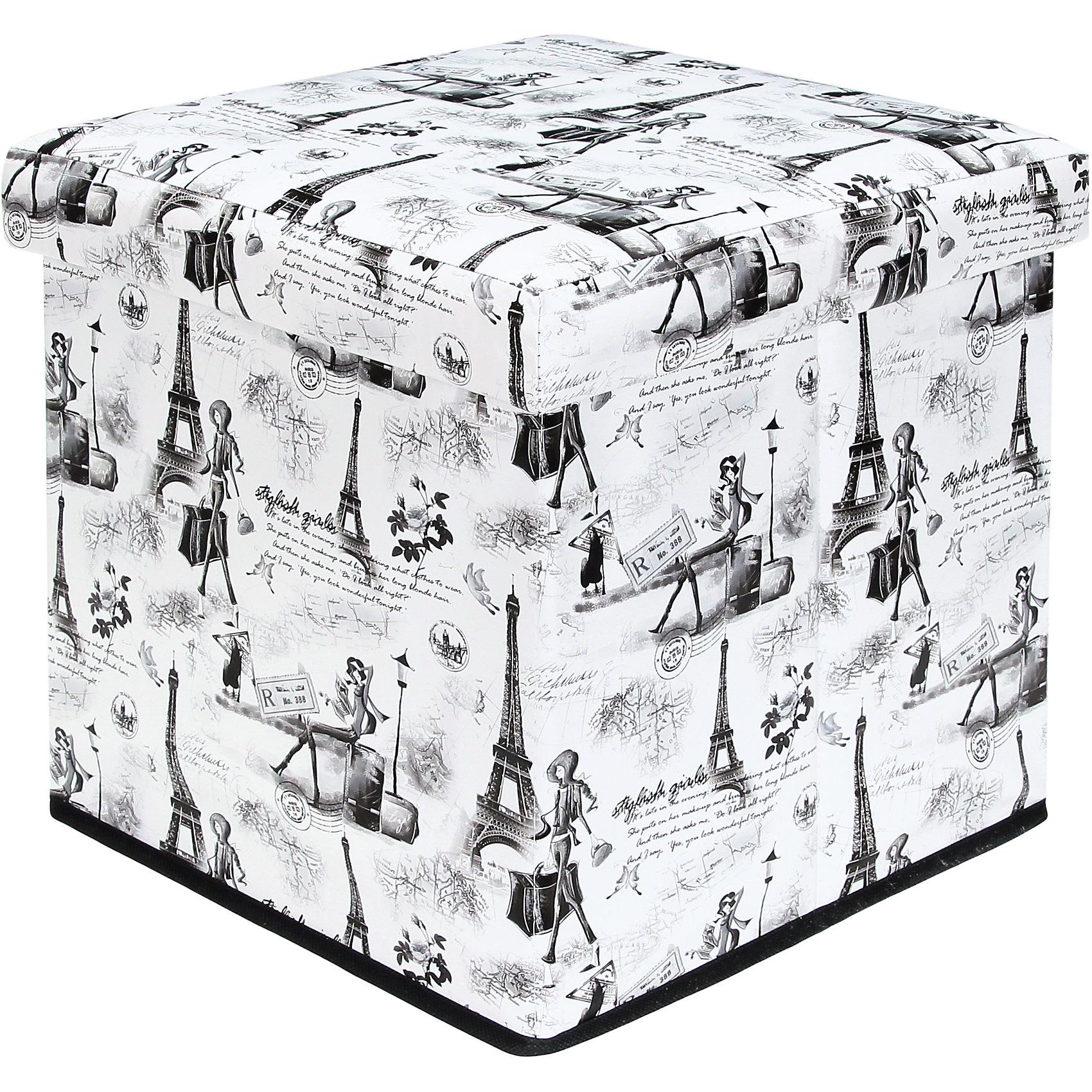 Пуф складной с ящиком для хранения 35*35*35 см. Модный Париж, EL CasaПорядок в детской<br>Характеристики товара:<br><br>• цвет: мульти<br>• материал: МДФ, экокожа<br>• размер: 35 х 35 х 35 см<br>• вес: 1000 г<br>• легко складывается<br>• декорирован принтом<br>• с ящиком для хранения<br>• удобный<br>• вместительный<br>• универсальный размер<br>• страна бренда: Российская Федерация<br>• страна производства: Китай<br><br>Такой пуф - отличный пример красивой и функциональной вещи для любого интерьера. В нем удобной хранить различные мелочи, благодаря универсальному дизайну и расцветке он хорошо будет смотреться в помещении.<br><br>Пуф для хранения может стать отличным приобретением для дома или подарком для любителей красивых оригинальных вещей.<br><br>Бренд EL Casa - это красивые и практичные товары для дома с современным дизайном. Они добавляют в жильё уюта и комфорта! <br><br>Пуф складной с ящиком для хранения 35*35*35 см. Модный Париж, EL Casa можно купить в нашем интернет-магазине.<br><br>Ширина мм: 350<br>Глубина мм: 350<br>Высота мм: 50<br>Вес г: 2050<br>Возраст от месяцев: 0<br>Возраст до месяцев: 1188<br>Пол: Унисекс<br>Возраст: Детский<br>SKU: 6668682