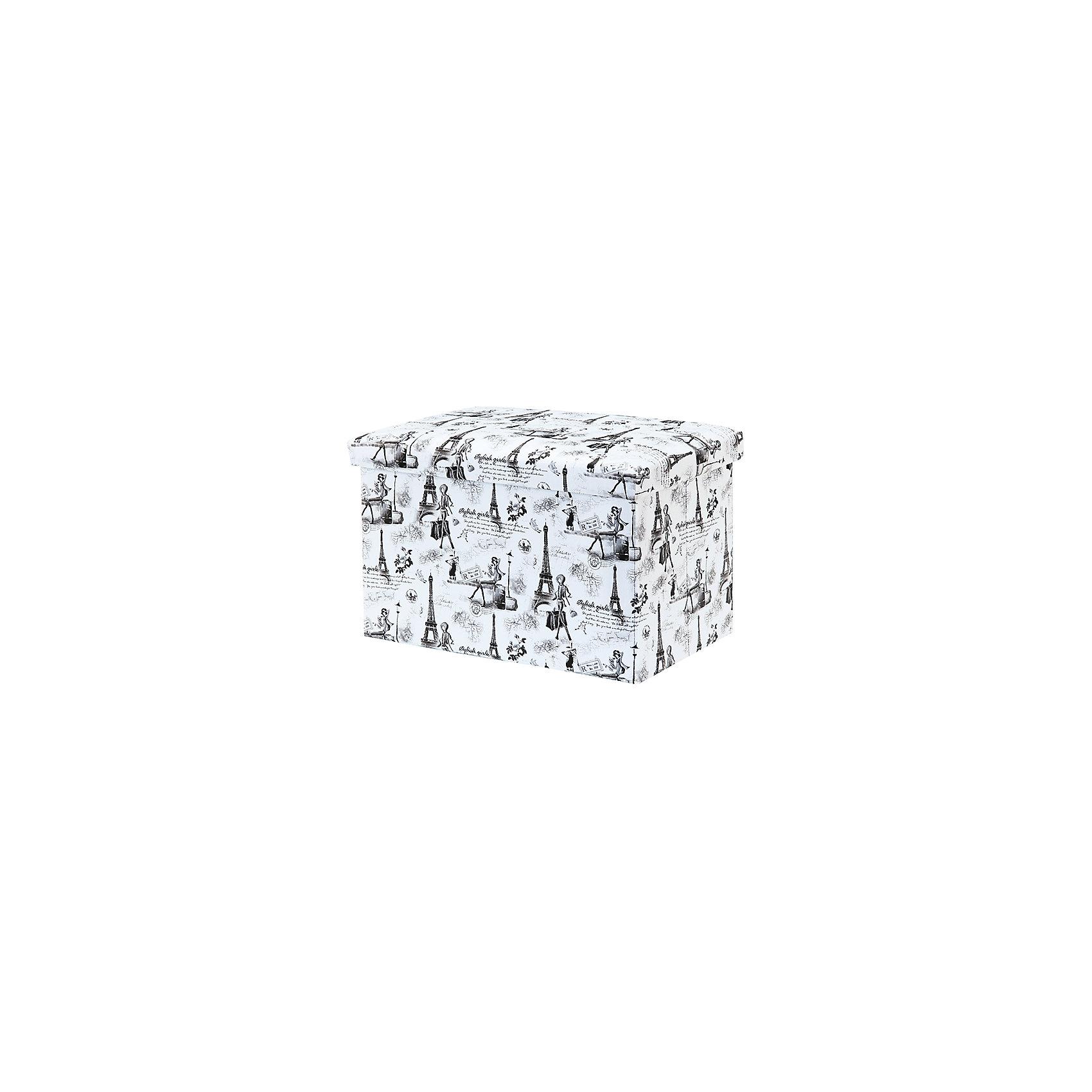 Пуф складной с ящиком для хранения 48*31*31 см. Модный Париж, EL CasaПорядок в детской<br>Характеристики товара:<br><br>• цвет: мульти<br>• материал: МДФ, экокожа<br>• размер: 48 х 31 х 31 см<br>• вес: 1000 г<br>• легко складывается<br>• декорирован принтом<br>• с ящиком для хранения<br>• удобный<br>• вместительный<br>• универсальный размер<br>• страна бренда: Российская Федерация<br>• страна производства: Китай<br><br>Такой пуф - отличный пример красивой и функциональной вещи для любого интерьера. В нем удобной хранить различные мелочи, благодаря универсальному дизайну и расцветке он хорошо будет смотреться в помещении.<br><br>Пуф для хранения может стать отличным приобретением для дома или подарком для любителей красивых оригинальных вещей.<br><br>Бренд EL Casa - это красивые и практичные товары для дома с современным дизайном. Они добавляют в жильё уюта и комфорта! <br><br>Пуф складной с ящиком для хранения 48*31*31 см. Модный Париж, EL Casa можно купить в нашем интернет-магазине.<br><br>Ширина мм: 480<br>Глубина мм: 310<br>Высота мм: 60<br>Вес г: 2375<br>Возраст от месяцев: 0<br>Возраст до месяцев: 1188<br>Пол: Унисекс<br>Возраст: Детский<br>SKU: 6668686