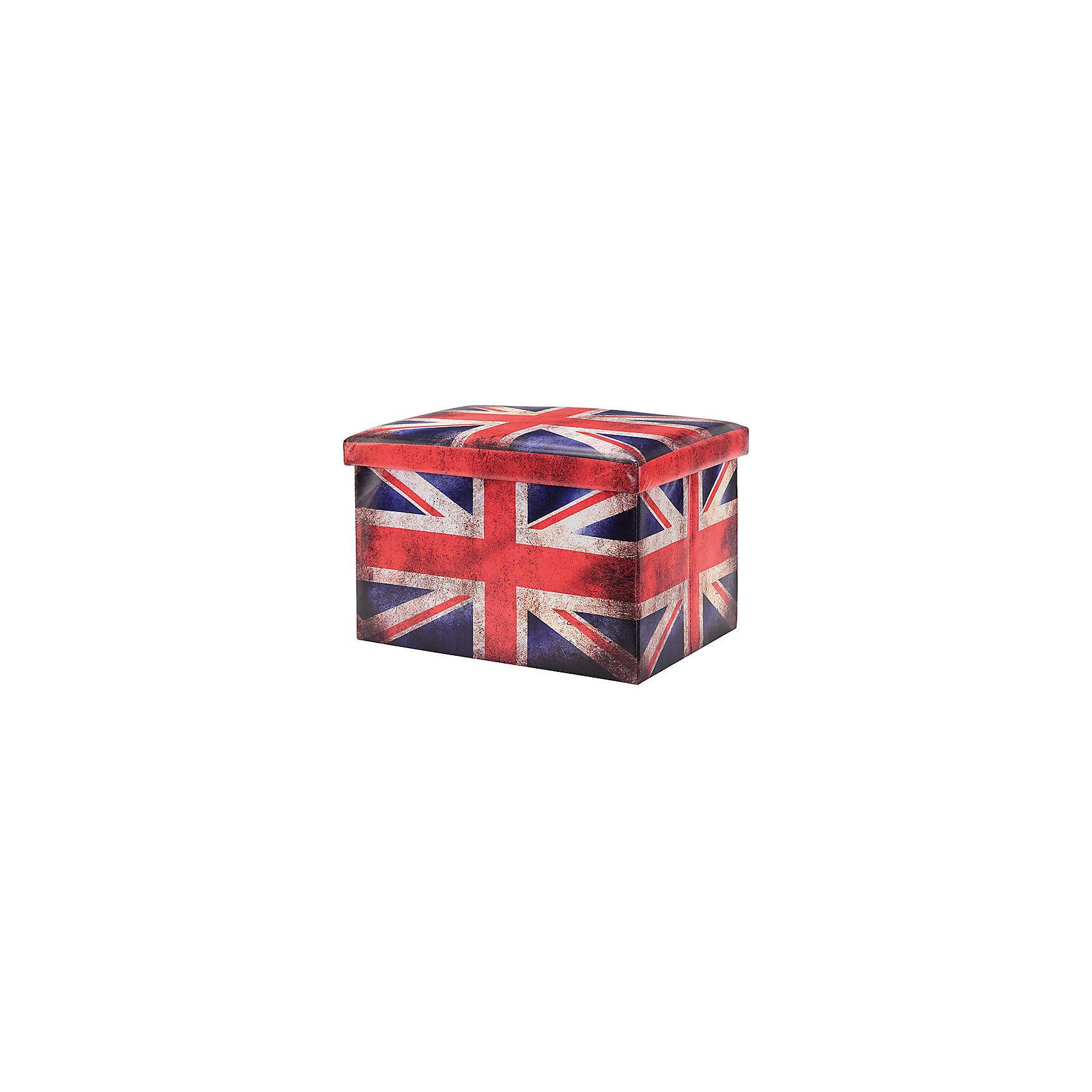 Пуф складной с ящиком для хранения 48*31*31 см. Британский флаг, EL CasaПорядок в детской<br>Характеристики товара:<br><br>• цвет: мульти<br>• материал: МДФ, экокожа<br>• размер: 48 х 31 х 31 см<br>• вес: 1000 г<br>• легко складывается<br>• декорирован принтом<br>• с ящиком для хранения<br>• удобный<br>• вместительный<br>• универсальный размер<br>• страна бренда: Российская Федерация<br>• страна производства: Китай<br><br>Такой пуф - отличный пример красивой и функциональной вещи для любого интерьера. В нем удобной хранить различные мелочи, благодаря универсальному дизайну и расцветке он хорошо будет смотреться в помещении.<br><br>Пуф для хранения может стать отличным приобретением для дома или подарком для любителей красивых оригинальных вещей.<br><br>Бренд EL Casa - это красивые и практичные товары для дома с современным дизайном. Они добавляют в жильё уюта и комфорта! <br><br>Пуф складной с ящиком для хранения 48*31*31 см. Британский флаг, EL Casa можно купить в нашем интернет-магазине.<br><br>Ширина мм: 480<br>Глубина мм: 310<br>Высота мм: 60<br>Вес г: 2375<br>Возраст от месяцев: 0<br>Возраст до месяцев: 1188<br>Пол: Унисекс<br>Возраст: Детский<br>SKU: 6668688