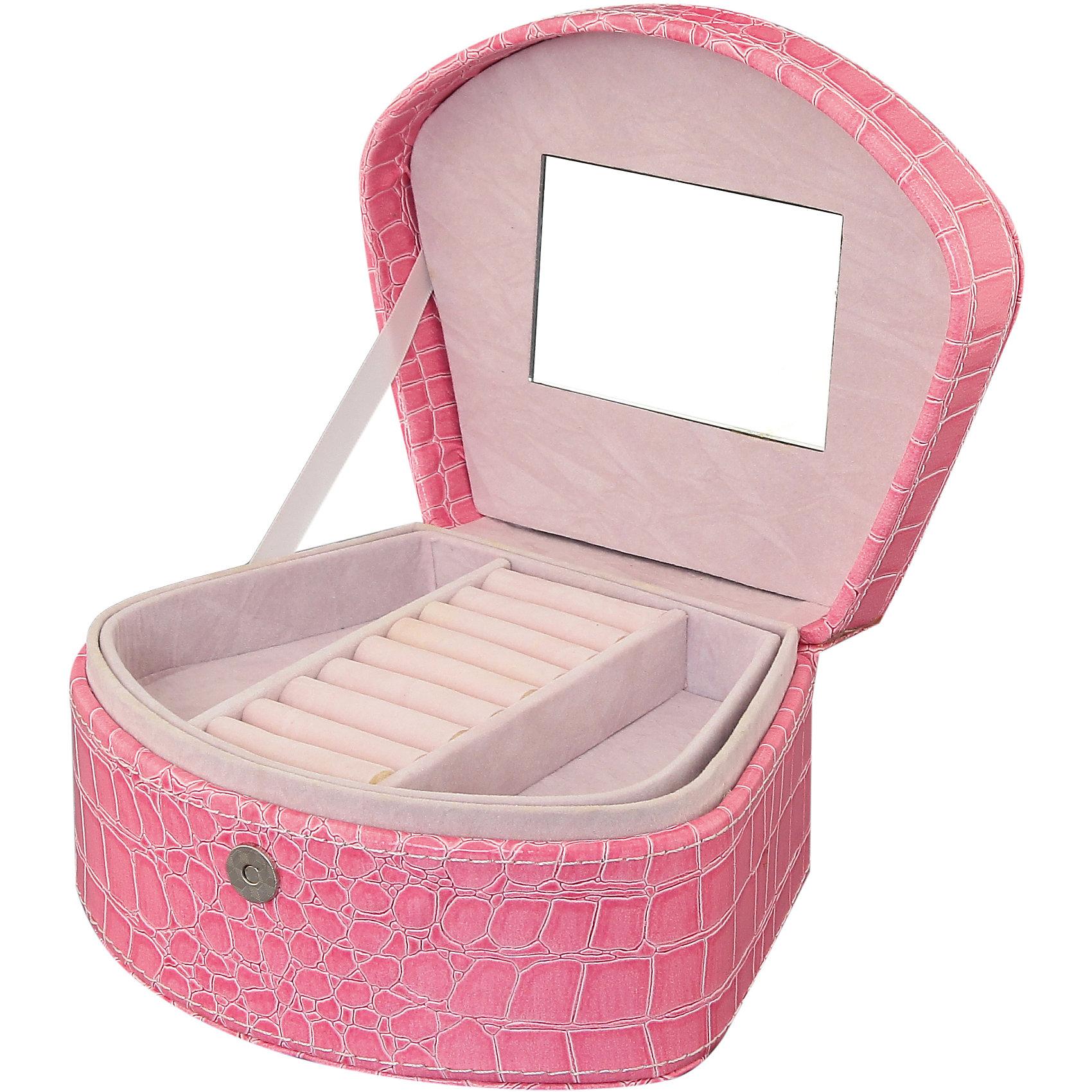 Шкатулка 18*15*9 см. Розовая ракушка + зеркало , EL CasaПорядок в детской<br>Характеристики товара:<br><br>• цвет: мульти<br>• материал: МДФ, искусственная кожа, стекло, металл<br>• размер: 15 х 18 х 9 см<br>• вес: 500 г<br>• декорирована принтом<br>• с отсеками для украшений и колец<br>• удобная<br>• внутри - зеркало<br>• универсальный размер<br>• страна бренда: Российская Федерация<br>• страна производства: Китай<br><br>Такая шкатулка - отличный пример красивой и функциональной вещи для любого интерьера. В ней удобной хранить различные мелочи, благодаря универсальному дизайну и расцветке она хорошо будет смотреться в помещении.<br><br>Симпатичная шкатулка может стать отличным приобретением для дома или подарком для любителей красивых оригинальных вещей.<br><br>Бренд EL Casa - это красивые и практичные товары для дома с современным дизайном. Они добавляют в жильё уюта и комфорта! <br><br>Шкатулку 18*15*9 см. Розовая ракушка + зеркало , EL Casa можно купить в нашем интернет-магазине.<br><br>Ширина мм: 190<br>Глубина мм: 160<br>Высота мм: 100<br>Вес г: 517<br>Возраст от месяцев: 0<br>Возраст до месяцев: 1188<br>Пол: Унисекс<br>Возраст: Детский<br>SKU: 6668703