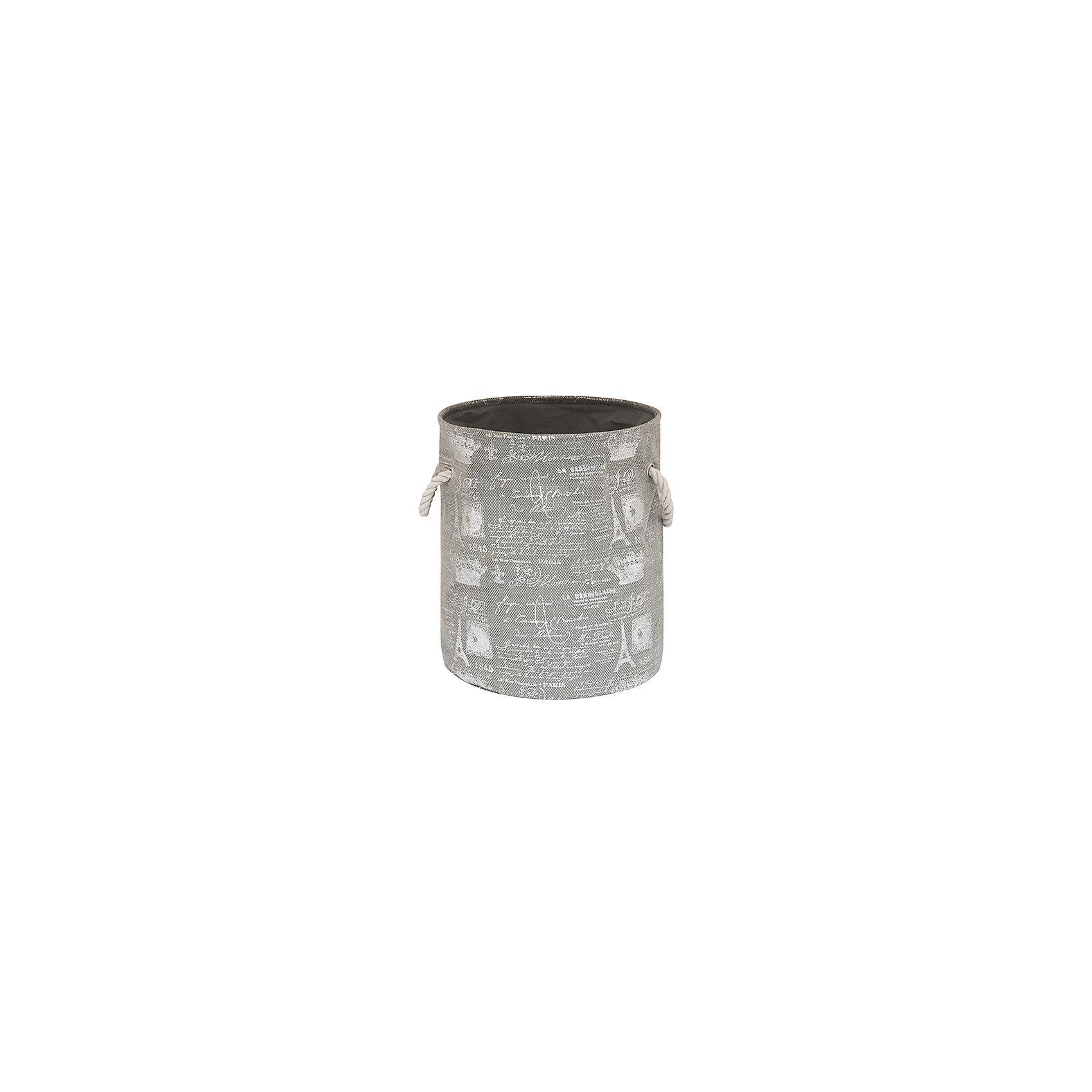 Кофр складной для хранения 34*34*40 см. Париж серебро, EL CasaПорядок в детской<br>Кофр складной мягкий для хранения имеет форму цилиндра. Не имеет жестких вставок, при этом держит форму и имеет эстетичный вид. Легко слкадывается и раскладывается, подходит для размещения в шкафу.<br><br>Ширина мм: 340<br>Глубина мм: 340<br>Высота мм: 70<br>Вес г: 417<br>Возраст от месяцев: 0<br>Возраст до месяцев: 1188<br>Пол: Унисекс<br>Возраст: Детский<br>SKU: 6668720