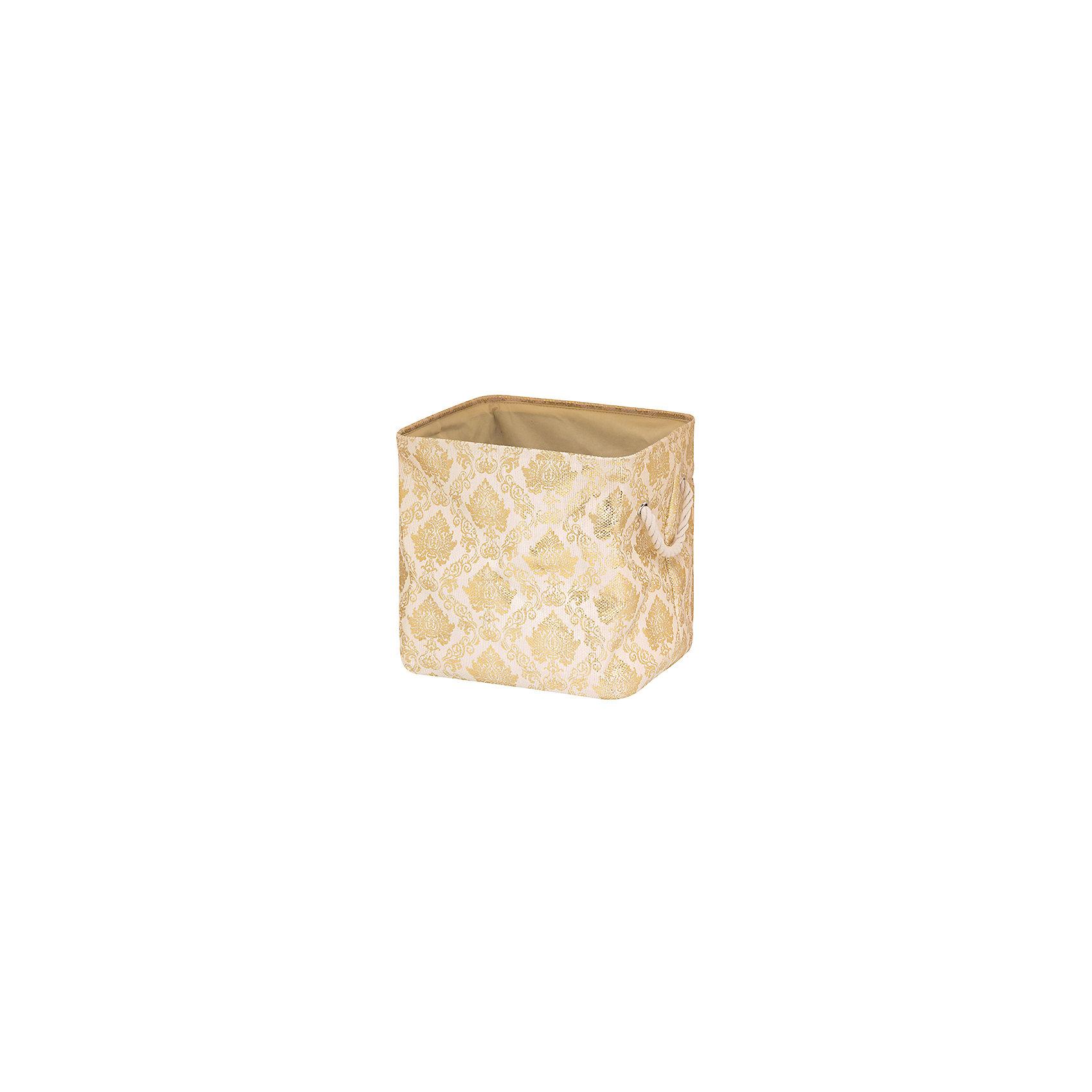 Кофр складной для хранения 35*30*35 см. Золотой узор, EL CasaПорядок в детской<br>Характеристики товара:<br><br>• цвет: мульти<br>• материал: текстиль (полиэстер)<br>• размер: 35 х 30 х 35 см<br>• вес: 500 г<br>• декорирован принтом<br>• с жестким каркасом<br>• легко складывается и раскладывается<br>• удобный<br>• с ручками<br>• универсальный размер<br>• страна бренда: Российская Федерация<br>• страна производства: Китай<br><br>Такой кофр - отличный пример красивой и функциональной вещи для любого интерьера. В нем удобной хранить различные мелочи, благодаря универсальному дизайну и расцветке он хорошо будет смотреться в помещении.<br><br>Кофр с жёстким каркасом для хранения может стать отличным приобретением для дома или подарком для любителей красивых оригинальных вещей.<br><br>Бренд EL Casa - это красивые и практичные товары для дома с современным дизайном. Они добавляют в жильё уюта и комфорта! <br><br>Кофр складной для хранения 35*30*35 см Золотой узор, EL Casa можно купить в нашем интернет-магазине.<br><br>Ширина мм: 360<br>Глубина мм: 310<br>Высота мм: 60<br>Вес г: 467<br>Возраст от месяцев: 0<br>Возраст до месяцев: 1188<br>Пол: Унисекс<br>Возраст: Детский<br>SKU: 6668726