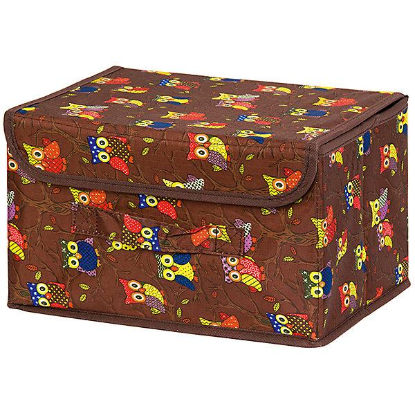 Кофр складной для хранения 26*20*16 см. Совы на ветках на коричневом, EL CasaОрганайзеры для одежды<br>Характеристики товара:<br><br>• цвет: мульти<br>• материал: текстиль (полиэстер), картон<br>• размер: 26 х 20 х 16 см<br>• вес: 400 г<br>• декорирован принтом<br>• с жестким каркасом<br>• легко складывается и раскладывается<br>• удобный<br>• с крышкой и ручкой<br>• универсальный размер<br>• страна бренда: Российская Федерация<br>• страна производства: Китай<br><br>Такой кофр - отличный пример красивой и функциональной вещи для любого интерьера. В нем удобной хранить различные мелочи, благодаря универсальному дизайну и расцветке он хорошо будет смотреться в помещении.<br><br>Кофр с жёстким каркасом для хранения может стать отличным приобретением для дома или подарком для любителей красивых оригинальных вещей.<br><br>Бренд EL Casa - это красивые и практичные товары для дома с современным дизайном. Они добавляют в жильё уюта и комфорта! <br><br>Кофр складной для хранения 26*20*16 см. Совы на ветках на коричневом, EL Casa можно купить в нашем интернет-магазине.<br><br>Ширина мм: 270<br>Глубина мм: 210<br>Высота мм: 27<br>Вес г: 400<br>Возраст от месяцев: 0<br>Возраст до месяцев: 1188<br>Пол: Унисекс<br>Возраст: Детский<br>SKU: 6668733