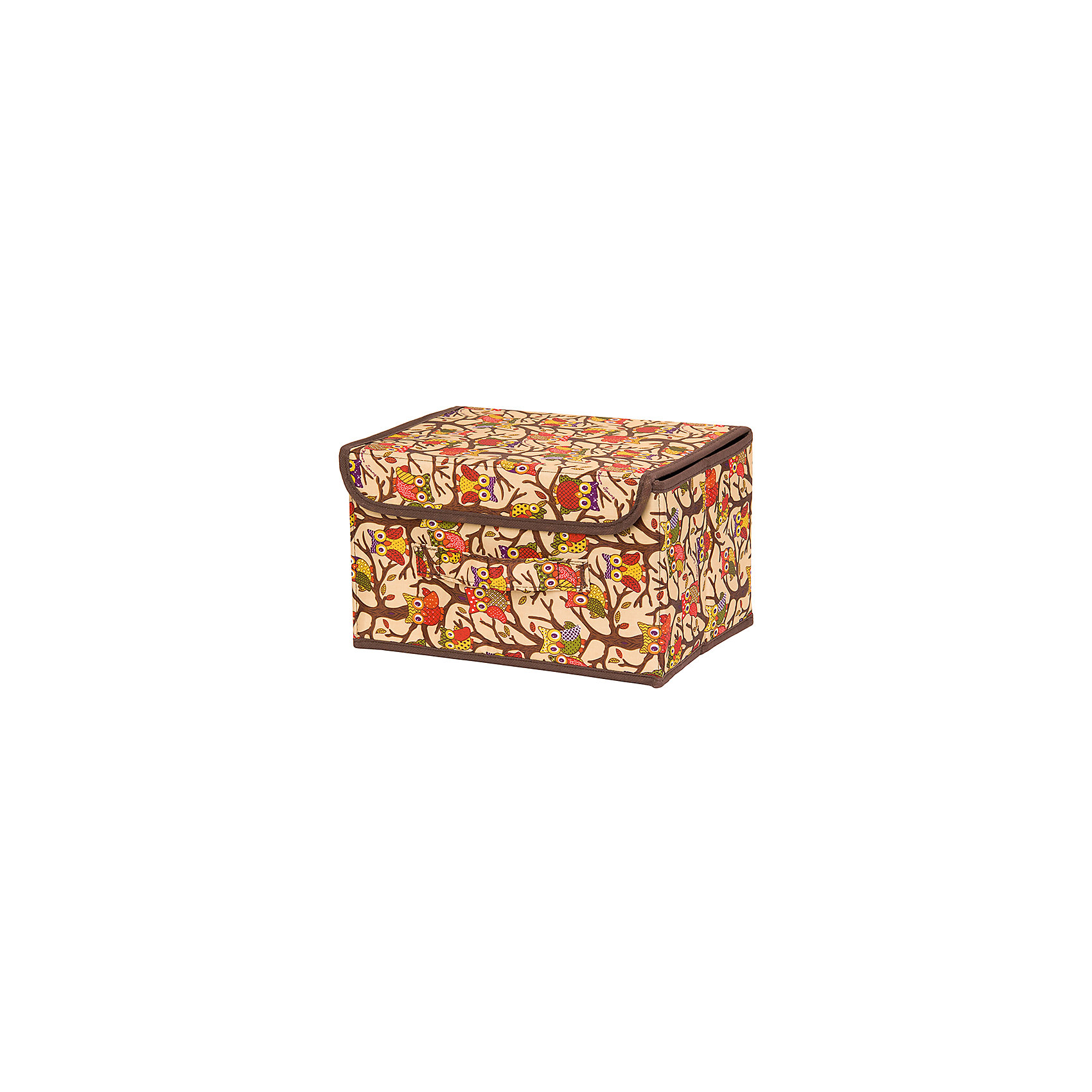 Кофр складной для хранения 26*20*16 см. Совы на ветках на бежевом EL CasaПорядок в детской<br>Характеристики товара:<br><br>• цвет: мульти<br>• материал: текстиль (полиэстер), картон<br>• размер: 26 х 20 х 16 см<br>• вес: 400 г<br>• декорирован принтом<br>• с жестким каркасом<br>• легко складывается и раскладывается<br>• удобный<br>• с крышкой и ручкой<br>• универсальный размер<br>• страна бренда: Российская Федерация<br>• страна производства: Китай<br><br>Такой кофр - отличный пример красивой и функциональной вещи для любого интерьера. В нем удобной хранить различные мелочи, благодаря универсальному дизайну и расцветке он хорошо будет смотреться в помещении.<br><br>Кофр с жёстким каркасом для хранения может стать отличным приобретением для дома или подарком для любителей красивых оригинальных вещей.<br><br>Бренд EL Casa - это красивые и практичные товары для дома с современным дизайном. Они добавляют в жильё уюта и комфорта! <br><br>Кофр складной для хранения 26*20*16 см. Совы на ветках на бежевом, EL Casa можно купить в нашем интернет-магазине.<br><br>Ширина мм: 270<br>Глубина мм: 210<br>Высота мм: 27<br>Вес г: 400<br>Возраст от месяцев: 0<br>Возраст до месяцев: 1188<br>Пол: Унисекс<br>Возраст: Детский<br>SKU: 6668734
