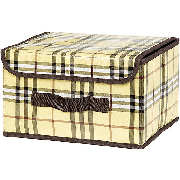 Кофр складной для хранения 26*20*16 см. Шотландка, EL CasaОрганайзеры для одежды<br>Характеристики товара:<br><br>• цвет: мульти<br>• материал: текстиль (полиэстер), картон<br>• размер: 26 х 20 х 16 см<br>• вес: 400 г<br>• декорирован принтом<br>• с жестким каркасом<br>• легко складывается и раскладывается<br>• удобный<br>• с крышкой и ручкой<br>• универсальный размер<br>• страна бренда: Российская Федерация<br>• страна производства: Китай<br><br>Такой кофр - отличный пример красивой и функциональной вещи для любого интерьера. В нем удобной хранить различные мелочи, благодаря универсальному дизайну и расцветке он хорошо будет смотреться в помещении.<br><br>Кофр с жёстким каркасом для хранения может стать отличным приобретением для дома или подарком для любителей красивых оригинальных вещей.<br><br>Бренд EL Casa - это красивые и практичные товары для дома с современным дизайном. Они добавляют в жильё уюта и комфорта! <br><br>Кофр складной для хранения 26*20*16 см. Шотландка, EL Casa можно купить в нашем интернет-магазине.<br><br>Ширина мм: 270<br>Глубина мм: 210<br>Высота мм: 27<br>Вес г: 367<br>Возраст от месяцев: 0<br>Возраст до месяцев: 1188<br>Пол: Унисекс<br>Возраст: Детский<br>SKU: 6668737