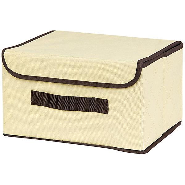 Кофр складной для хранения 26*20*16 см. Геометрия стиля, EL Casa, молочныйОрганайзеры для одежды<br>Характеристики товара:<br><br>• цвет: мульти<br>• материал: текстиль (полиэстер), картон<br>• размер: 26 х 20 х 16 см<br>• вес: 400 г<br>• декорирован принтом<br>• с жестким каркасом<br>• легко складывается и раскладывается<br>• удобный<br>• с крышкой и ручкой<br>• универсальный размер<br>• страна бренда: Российская Федерация<br>• страна производства: Китай<br><br>Такой кофр - отличный пример красивой и функциональной вещи для любого интерьера. В нем удобной хранить различные мелочи, благодаря универсальному дизайну и расцветке он хорошо будет смотреться в помещении.<br><br>Кофр с жёстким каркасом для хранения может стать отличным приобретением для дома или подарком для любителей красивых оригинальных вещей.<br><br>Бренд EL Casa - это красивые и практичные товары для дома с современным дизайном. Они добавляют в жильё уюта и комфорта! <br><br>Кофр складной для хранения 26*20*16 см. Геометрия стиля, EL Casa можно купить в нашем интернет-магазине.<br><br>Ширина мм: 270<br>Глубина мм: 210<br>Высота мм: 27<br>Вес г: 367<br>Возраст от месяцев: 0<br>Возраст до месяцев: 1188<br>Пол: Унисекс<br>Возраст: Детский<br>SKU: 6668738