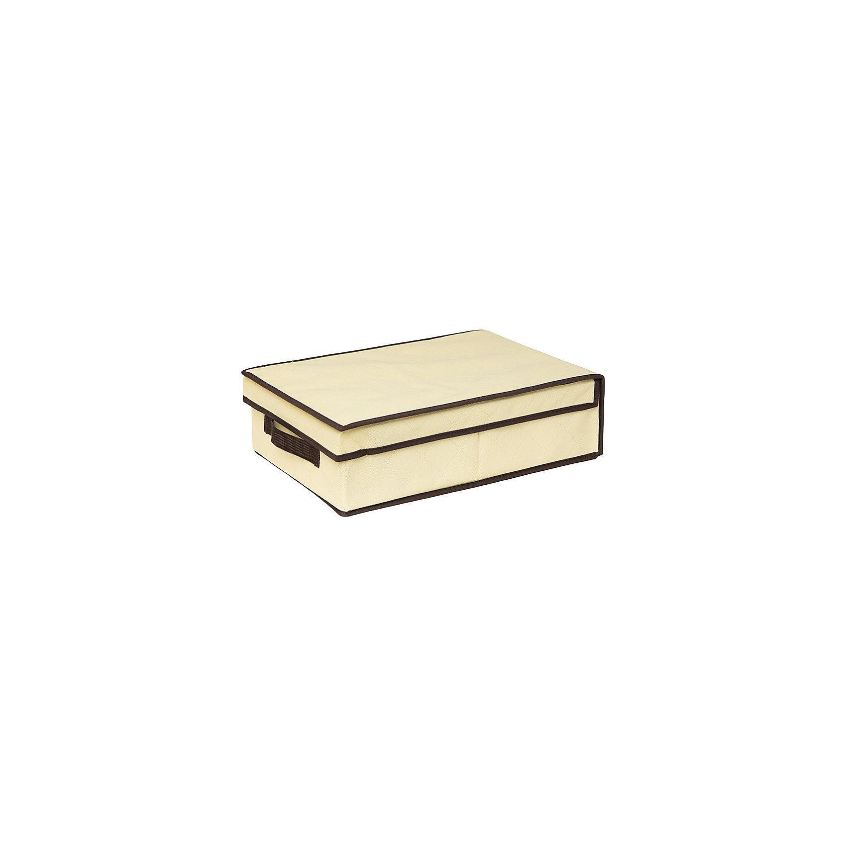 Кофр складной для хранения 27*41*12 см. Геометрия стиля, EL Casa, молочныйПорядок в детской<br>Характеристики товара:<br><br>• цвет: молочный<br>• материал: текстиль (полиэстер 100%)<br>• размер: 27 х 41 х 12 см<br>• вес: 600 г<br>• декорирован принтом<br>• с жестким каркасом<br>• легко складывается и раскладывается<br>• удобный<br>• с крышкой <br>• универсальный размер<br>• страна бренда: Российская Федерация<br>• страна производства: Китай<br><br>Такой кофр - отличный пример красивой и функциональной вещи для любого интерьера. В нем удобной хранить различные мелочи, благодаря универсальному дизайну и расцветке он хорошо будет смотреться в помещении.<br><br>Кофр с жёстким каркасом для хранения может стать отличным приобретением для дома или подарком для любителей красивых оригинальных вещей.<br><br>Бренд EL Casa - это красивые и практичные товары для дома с современным дизайном. Они добавляют в жильё уюта и комфорта! <br><br>Кофр складной для хранения 27*41*12 см. Геометрия стиля, EL Casa можно купить в нашем интернет-магазине.<br><br>Ширина мм: 415<br>Глубина мм: 270<br>Высота мм: 20<br>Вес г: 563<br>Возраст от месяцев: 0<br>Возраст до месяцев: 1188<br>Пол: Унисекс<br>Возраст: Детский<br>SKU: 6668749