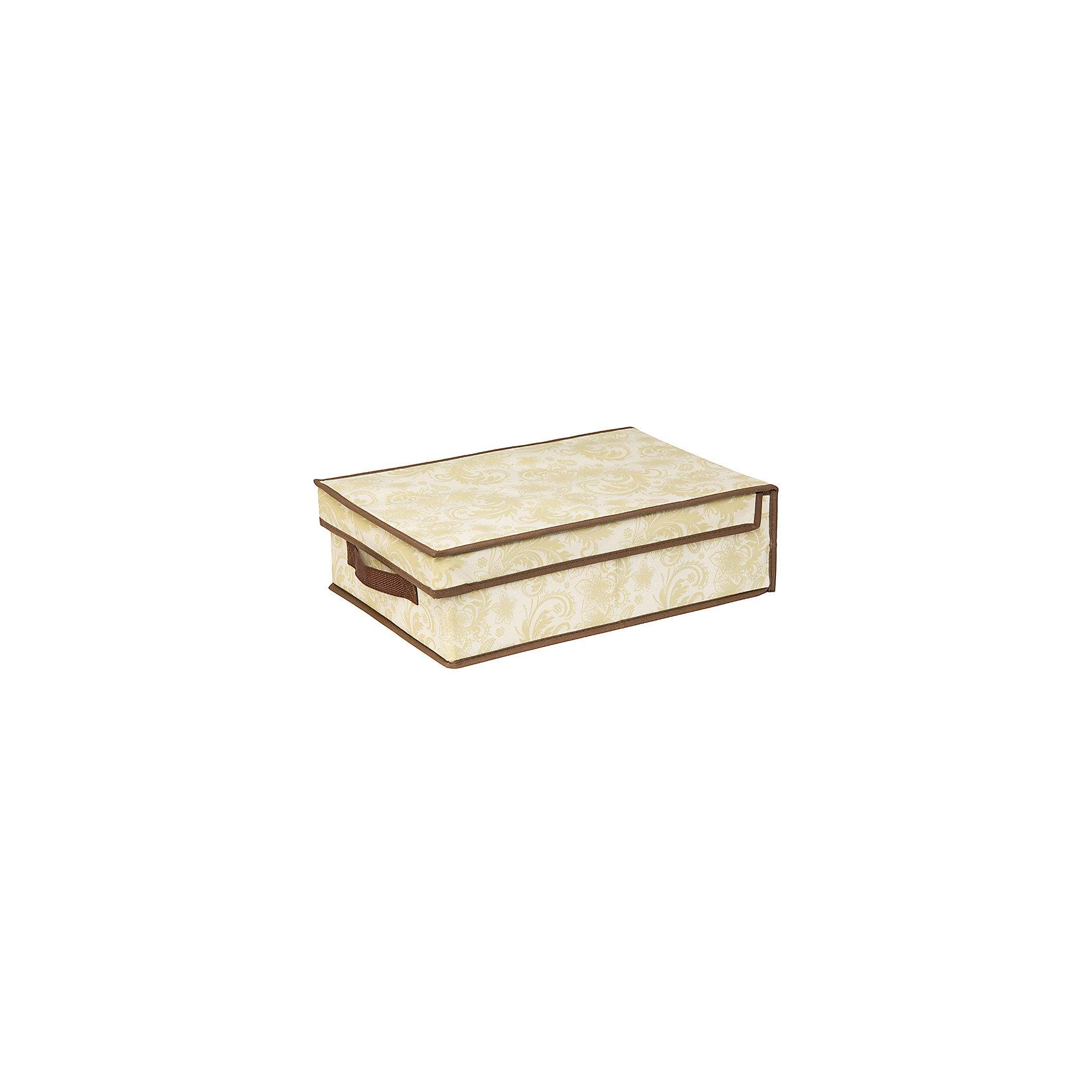 Кофр складной для хранения 27*41*12 см. Бежевый узор, EL CasaПорядок в детской<br>Характеристики товара:<br><br>• цвет: мульти<br>• материал: текстиль (полиэстер 100%)<br>• размер: 27 х 41 х 12 см<br>• вес: 600 г<br>• декорирован принтом<br>• с жестким каркасом<br>• легко складывается и раскладывается<br>• удобный<br>• с крышкой <br>• универсальный размер<br>• страна бренда: Российская Федерация<br>• страна производства: Китай<br><br>Такой кофр - отличный пример красивой и функциональной вещи для любого интерьера. В нем удобной хранить различные мелочи, благодаря универсальному дизайну и расцветке он хорошо будет смотреться в помещении.<br><br>Кофр с жёстким каркасом для хранения может стать отличным приобретением для дома или подарком для любителей красивых оригинальных вещей.<br><br>Бренд EL Casa - это красивые и практичные товары для дома с современным дизайном. Они добавляют в жильё уюта и комфорта! <br><br>Кофр складной для хранения 27*41*12 см. Бежевый узор, EL Casa можно купить в нашем интернет-магазине.<br><br>Ширина мм: 415<br>Глубина мм: 270<br>Высота мм: 20<br>Вес г: 563<br>Возраст от месяцев: 0<br>Возраст до месяцев: 1188<br>Пол: Унисекс<br>Возраст: Детский<br>SKU: 6668750