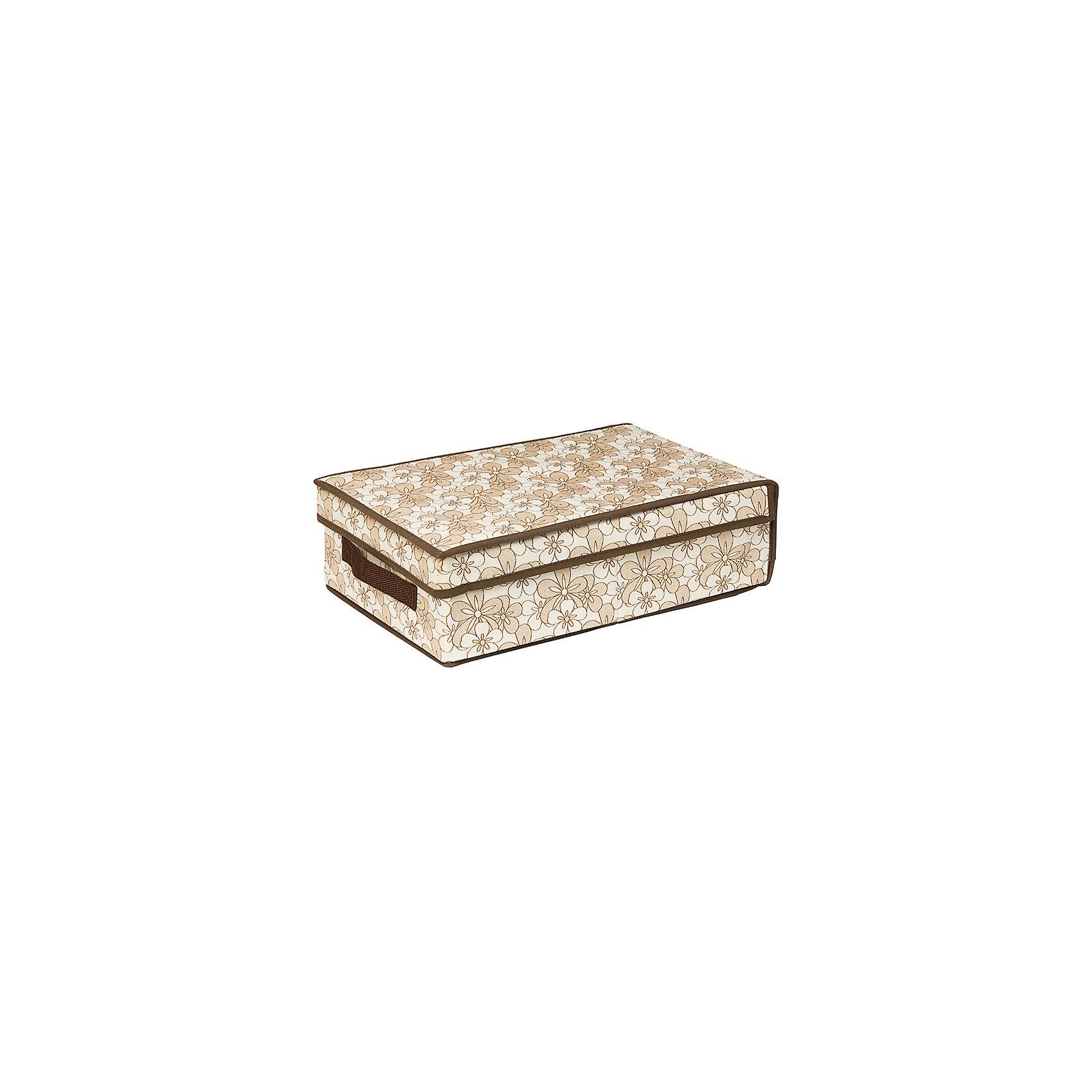 Кофр складной для хранения 27*41*12 см. Цветочное изобилие, EL CasaПорядок в детской<br>Кофр для хранения представляет собой закрывающуюся крышкой коробку жесткой конструкции, благодаря наличию внутри плотных листов картона. Специально предназначен для защиты Вашей одежды от воздействия негативных внешних факторов: влаги и сырости, моли, выгорания,  грязи. Позволит организовать хранение перчаток, ремней, шарфов. Имеет  ручку  для переноски.<br><br>Ширина мм: 415<br>Глубина мм: 270<br>Высота мм: 20<br>Вес г: 563<br>Возраст от месяцев: 0<br>Возраст до месяцев: 1188<br>Пол: Унисекс<br>Возраст: Детский<br>SKU: 6668751