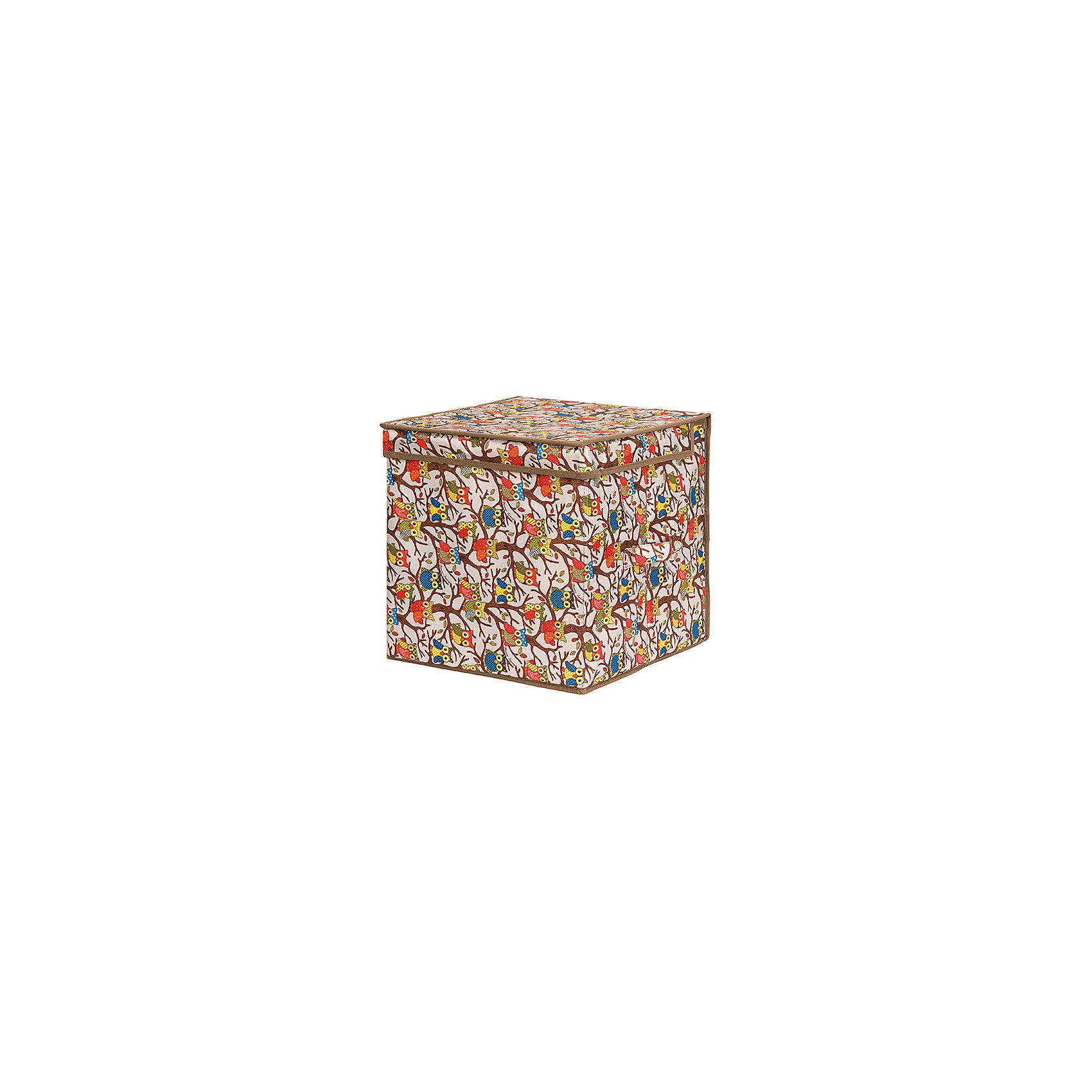 Кофр складной для хранения 31*31*31 см. Совы на ветках на серебре, квадрат, EL CasaПорядок в детской<br>Характеристики товара:<br><br>• цвет: мульти<br>• материал: текстиль (полиэстер 100%)<br>• размер: 31 х 31 х 31 см<br>• вес: 800 г<br>• декорирован принтом<br>• с жестким каркасом<br>• легко складывается и раскладывается<br>• удобный<br>• с крышкой <br>• универсальный размер<br>• страна бренда: Российская Федерация<br>• страна производства: Китай<br><br>Такой кофр - отличный пример красивой и функциональной вещи для любого интерьера. В нем удобной хранить различные мелочи, благодаря универсальному дизайну и расцветке он хорошо будет смотреться в помещении.<br><br>Кофр с жёстким каркасом для хранения может стать отличным приобретением для дома или подарком для любителей красивых оригинальных вещей.<br><br>Бренд EL Casa - это красивые и практичные товары для дома с современным дизайном. Они добавляют в жильё уюта и комфорта! <br><br>Кофр складной для хранения 31*31*31 см. Совы на ветках на серебре, квадрат, EL Casa можно купить в нашем интернет-магазине.<br><br>Ширина мм: 305<br>Глубина мм: 315<br>Высота мм: 30<br>Вес г: 863<br>Возраст от месяцев: 0<br>Возраст до месяцев: 1188<br>Пол: Унисекс<br>Возраст: Детский<br>SKU: 6668754