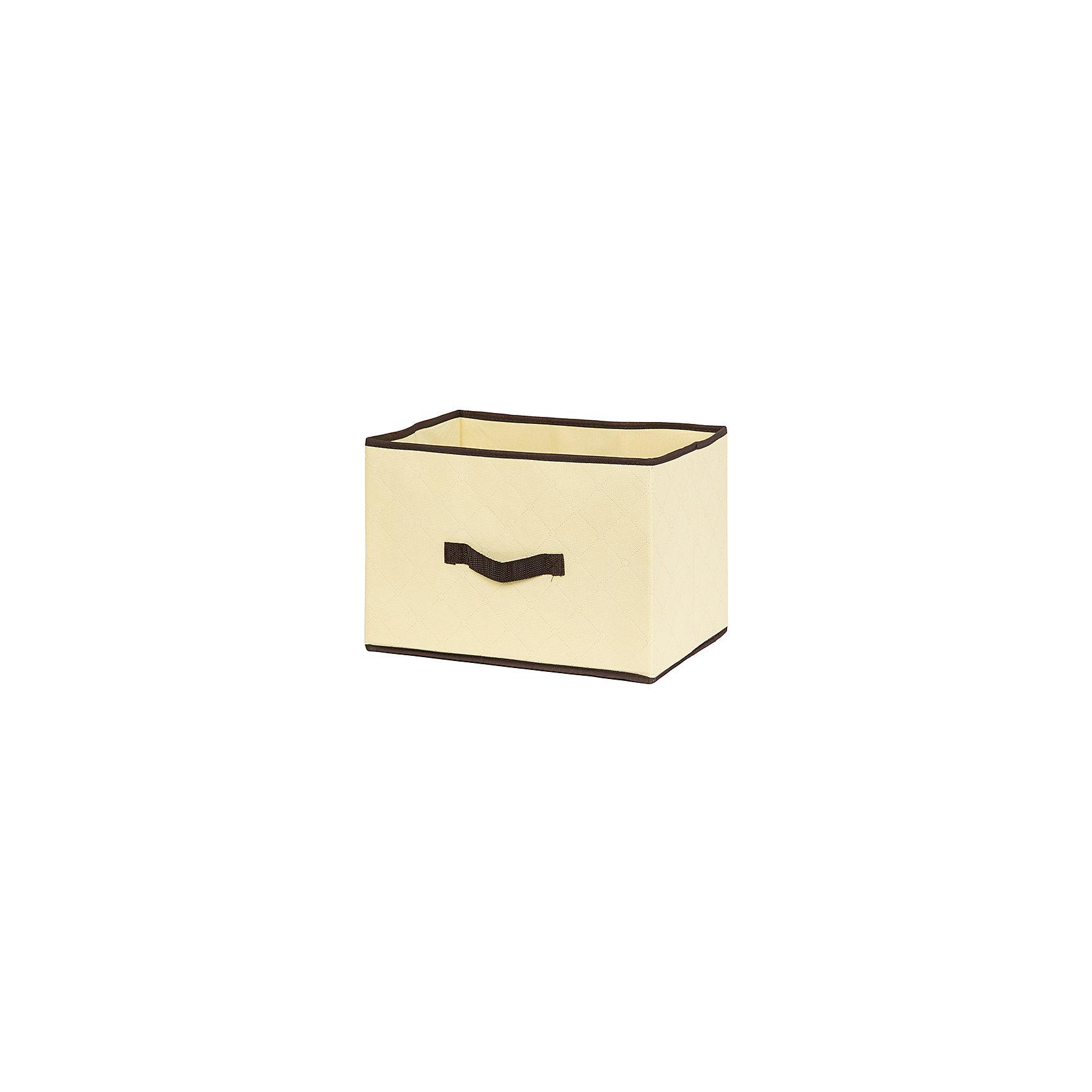 Кофр складной для хранения 35*25*25 см. Геометрия стиля, EL Casa, молочныйПорядок в детской<br>Кофр  с жестким каркасом для хранения. Благодаря  специальным вставкам, кофр прекрасно держит форму, а эстетичный дизайн гармонично смотрится в любом интерьере. В нем можно хранить всевозможные предметы: книги, игрушки, рукоделие. Для быстрого доступа и экономии пространства  кофр без крышки и с 2 ручками.<br><br>Ширина мм: 350<br>Глубина мм: 250<br>Высота мм: 35<br>Вес г: 585<br>Возраст от месяцев: 0<br>Возраст до месяцев: 1188<br>Пол: Унисекс<br>Возраст: Детский<br>SKU: 6668774