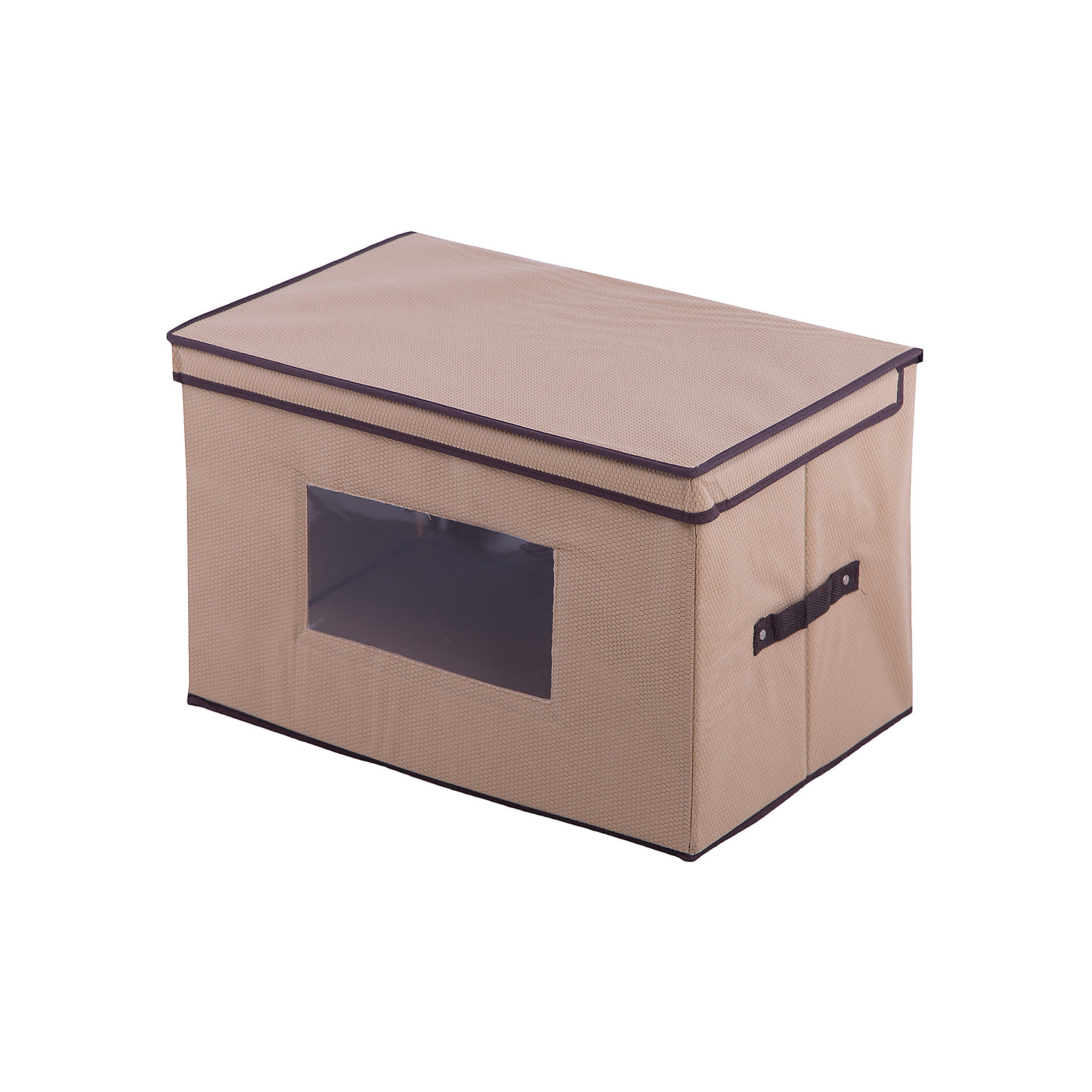 Кофр складной для хранения 48*31*31 см. Соты, EL Casa, бежевыйПорядок в детской<br>Вместительный кофр  для хранения EL Casa сезонной одежды и домашнего текстиля. Специальный нетканый материал позволяет воздуху проникать внутрь, при этом защищая Ваши вещи от влаги и пыли. Прозрачная вставка позволяет видеть содержимое кофра.  Для удобства в обращении  по бокам имеются ручки.  Благодаря эстетичному дизайну кофр гармонично смотрится в любом интерьер<br><br>Ширина мм: 420<br>Глубина мм: 370<br>Высота мм: 52<br>Вес г: 1200<br>Возраст от месяцев: 0<br>Возраст до месяцев: 1188<br>Пол: Унисекс<br>Возраст: Детский<br>SKU: 6668784