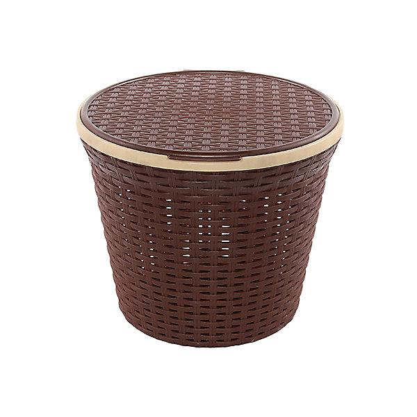 Корзина для хранения круглая 15 л.33*33*27 см. с крышкой Ротанг, Violet, коричневыйКорзины для белья<br>Характеристики товара:<br><br>• цвет: коричневый<br>• материал: полипропилен<br>• размер: 33 х 33 х 27 см<br>• вес: 400 г<br>• объем: 15 л<br>• с крышкой<br>• естественная вентиляция<br>• из экологически чистого пластика<br>• удобная<br>• эргономичная<br>• вместительная<br>• универсальный размер<br>• страна бренда: Российская Федерация<br>• страна производства: Российская Федерация<br><br>Эта корзина для хранения - отличный пример красивой и функциональной вещи для любого интерьера. Благодаря универсальному дизайну и расцветке предмет хорошо будет смотреться в помещении. Отлично подходит для ванных комнат.<br><br>Корзина для хранения может стать отличным приобретением для дома или подарком для любителей красивых удобных вещей.<br><br>Бренд Violet - это красивые и практичные товары для дома с современным дизайном. Они добавляют в жильё уюта и комфорта! <br><br>Корзину для хранения круглая 15 л.33*33*27 см. с крышкой Ротанг, Violet, коричневый, можно купить в нашем интернет-магазине.<br><br>Ширина мм: 330<br>Глубина мм: 330<br>Высота мм: 270<br>Вес г: 430<br>Возраст от месяцев: 0<br>Возраст до месяцев: 1188<br>Пол: Унисекс<br>Возраст: Детский<br>SKU: 6668845