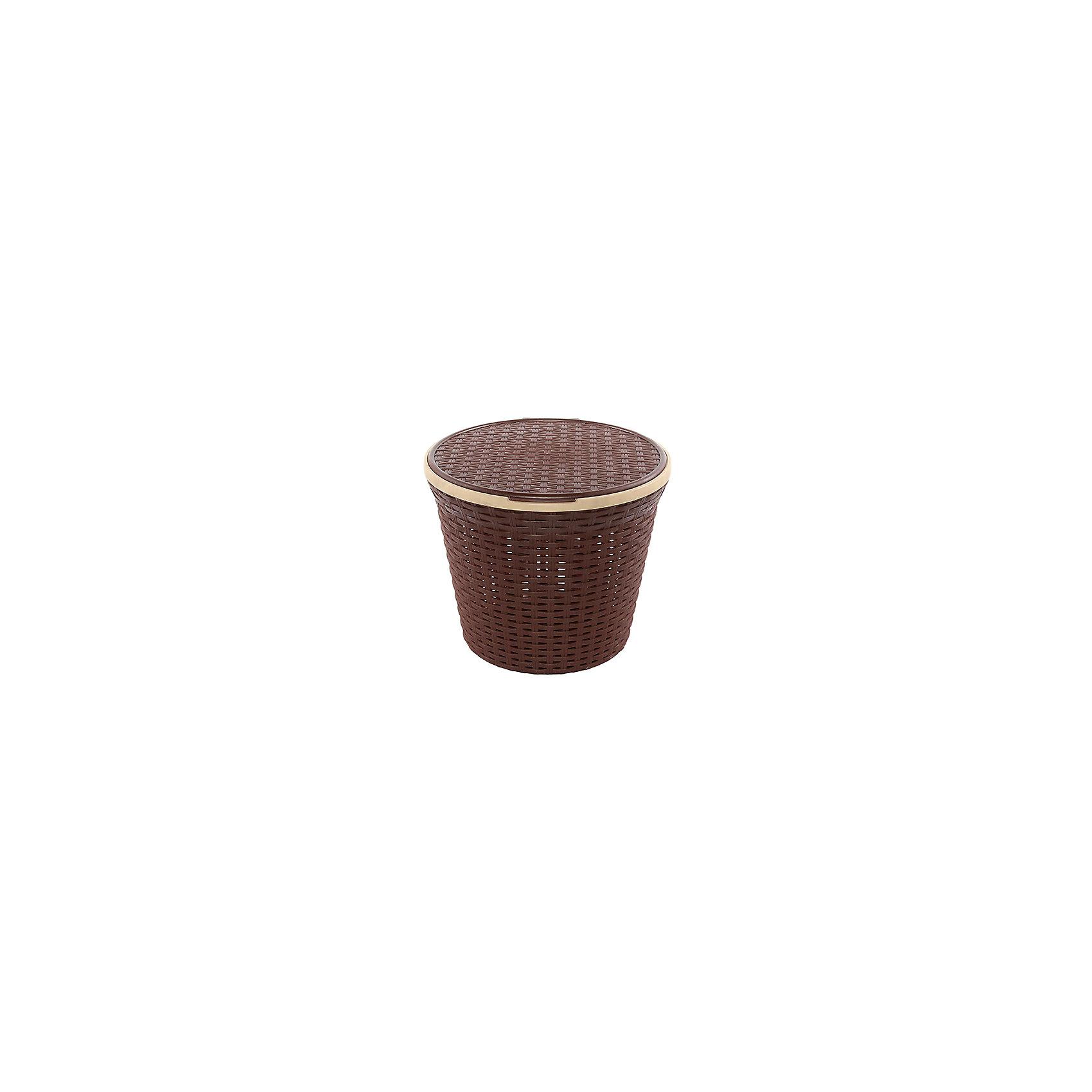 Корзина для хранения круглая 15 л.33*33*27 см. с крышкой Ротанг, Violet, коричневыйВанная комната<br>Корзина для хранения круглая 15 л.33*33*27 см. с крышкой Ротанг(коричневая), Violet Корзина для хранения - незаменимая вещь для эргономичного хранения самого необходимого. Отличное решение для организации жилого пространства.<br><br>Ширина мм: 330<br>Глубина мм: 330<br>Высота мм: 270<br>Вес г: 430<br>Возраст от месяцев: 0<br>Возраст до месяцев: 1188<br>Пол: Унисекс<br>Возраст: Детский<br>SKU: 6668845
