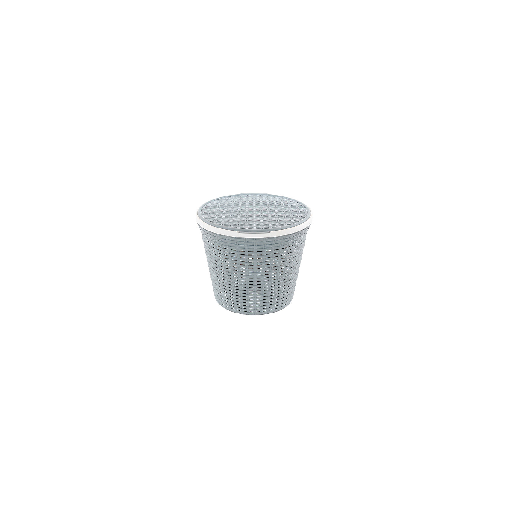 Корзина для хранения круглая 15 л.33*33*27 см. с крышкой Ротанг, Violet, серыйВанная комната<br>Характеристики товара:<br><br>• цвет: серый<br>• материал: полипропилен<br>• размер: 33 х 33 х 27 см<br>• вес: 400 г<br>• объем: 15 л<br>• с крышкой<br>• естественная вентиляция<br>• из экологически чистого пластика<br>• удобная<br>• эргономичная<br>• вместительная<br>• универсальный размер<br>• страна бренда: Российская Федерация<br>• страна производства: Российская Федерация<br><br>Эта корзина для хранения - отличный пример красивой и функциональной вещи для любого интерьера. Благодаря универсальному дизайну и расцветке предмет хорошо будет смотреться в помещении. Отлично подходит для ванных комнат.<br><br>Корзина для хранения может стать отличным приобретением для дома или подарком для любителей красивых удобных вещей.<br><br>Бренд Violet - это красивые и практичные товары для дома с современным дизайном. Они добавляют в жильё уюта и комфорта! <br><br>Корзину для хранения круглая 15 л.33*33*27 см. с крышкой Ротанг, Violet, серый, можно купить в нашем интернет-магазине.<br><br>Ширина мм: 330<br>Глубина мм: 330<br>Высота мм: 270<br>Вес г: 430<br>Возраст от месяцев: 0<br>Возраст до месяцев: 1188<br>Пол: Унисекс<br>Возраст: Детский<br>SKU: 6668846