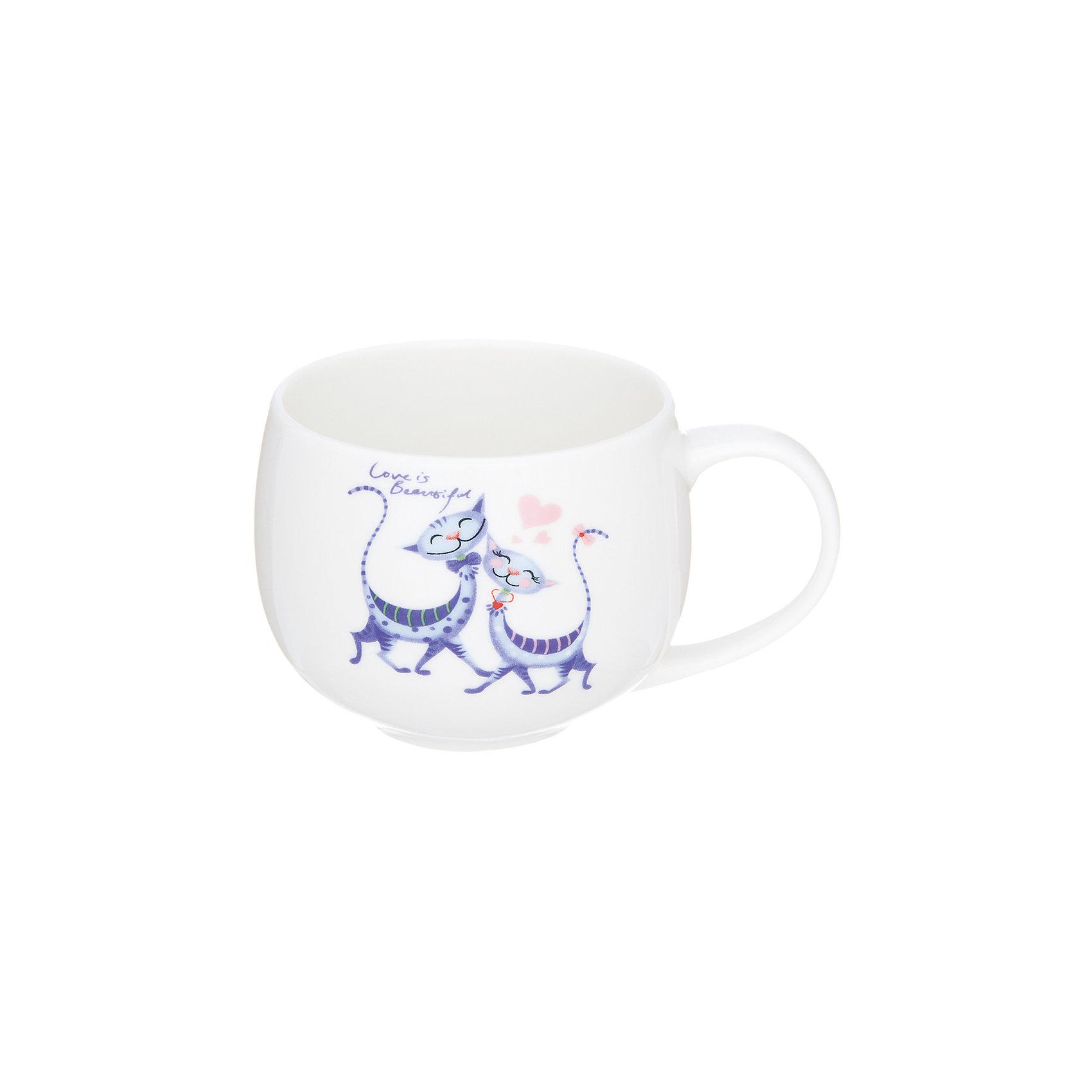 Кружка 330 мл Влюбленные коты, Elan GalleryПосуда<br>Характеристики товара:<br><br>• цвет: мульти<br>• материал: керамика<br>• размер: 12, х 9,5 х 11 см<br>• вес: 360 г<br>• объем: 330 мл<br>• силиконовая крышка в комплекте<br>• декорирована рисунком<br>• легко мыть<br>• удобная ручка<br>• для любых горячих и холодных напитков<br>• стильный дизайн<br>• страна бренда: Российская Федерация<br>• страна производства: Китай<br><br>Такая симпатичная кружка не только приятно выглядит, пить из неё - одно удовольствие! Благодаря универсальному дизайну и расцветке предмет хорошо будет смотреться в помещении. <br><br>Эта кружка может стать отличным приобретением для дома или подарком для любителей красивых и оригинальных вещей. <br><br>Бренд Elan Gallery - это красивые и практичные товары для дома с современным дизайном. Они добавляют в жильё уюта и комфорта! <br><br>Кружку 330 мл Влюбленные коты, Elan Gallery можно купить в нашем интернет-магазине.<br><br>Ширина мм: 115<br>Глубина мм: 95<br>Высота мм: 90<br>Вес г: 361<br>Возраст от месяцев: 0<br>Возраст до месяцев: 1188<br>Пол: Унисекс<br>Возраст: Детский<br>SKU: 6668859