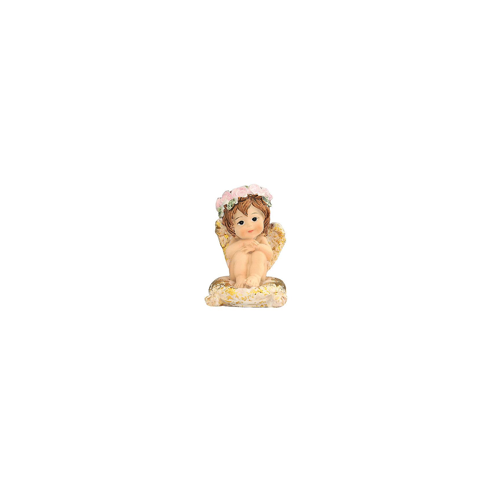 Фигурка декоративная Ангелочек на золотой подушечке, Elan GalleryПредметы интерьера<br>Характеристики товара:<br><br>• цвет: мульти<br>• материал: полистоун<br>• высота: 6 см<br>• вес: 100 г<br>• подходит к любому интерьеру<br>• отлично проработаны детали<br>• универсальный размер<br>• страна бренда: Российская Федерация<br>• страна производства: Китай<br><br>Такая декоративная фигурка - отличный пример красивой вещи для любого интерьера. Благодаря универсальному дизайну и расцветке она хорошо будет смотреться в помещении.<br><br>Декоративная фигурка может стать отличным приобретением для дома или подарком для любителей симпатичных вещей, украшающих пространство.<br><br>Бренд Elan Gallery - это красивые и практичные товары для дома с современным дизайном. Они добавляют в жильё уюта и комфорта! <br><br>Фигурку декоративную Ангелочек на золотой подушечке, Elan Gallery можно купить в нашем интернет-магазине.<br><br>Ширина мм: 55<br>Глубина мм: 47<br>Высота мм: 65<br>Вес г: 84<br>Возраст от месяцев: 0<br>Возраст до месяцев: 1188<br>Пол: Унисекс<br>Возраст: Детский<br>SKU: 6668933