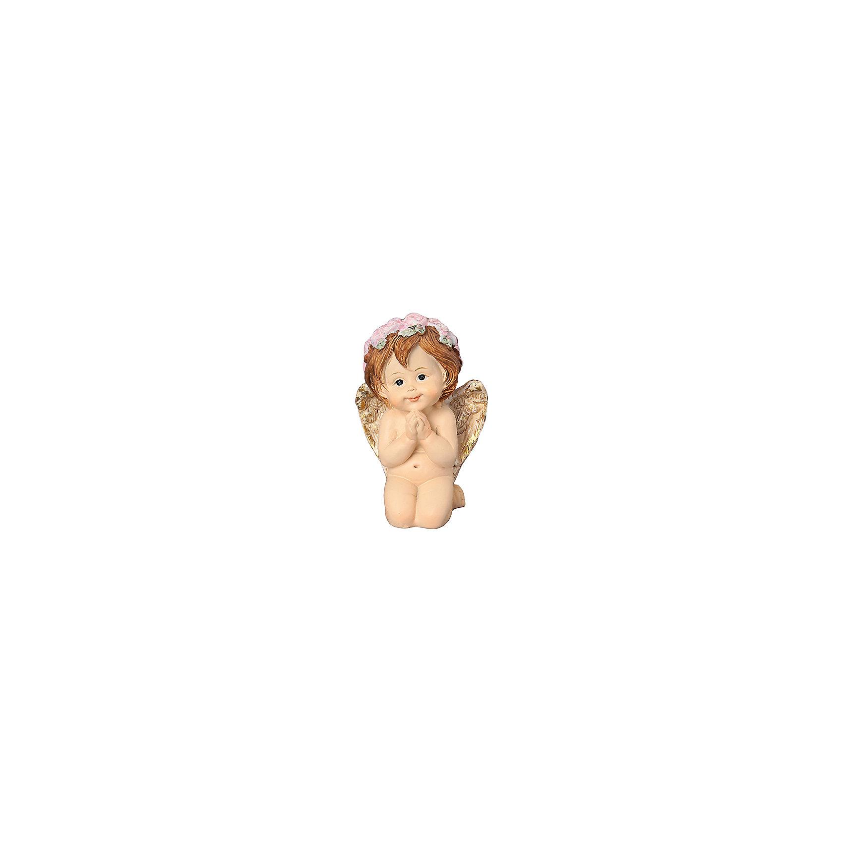 Фигурка декоративная Задумчивый ангелочек в венке, Elan GalleryПредметы интерьера<br>Фигурка декоративная  Elan Gallery 5,5*3,5*8,5 см. Задумчивый ангелочек в венке, Elan Gallery Декоративные фигурки - это отличный способ разнообразить внутреннее убранство вашего дома. Размер  5,5х3,5х8,5 см.<br><br>Ширина мм: 53<br>Глубина мм: 50<br>Высота мм: 85<br>Вес г: 181<br>Возраст от месяцев: 0<br>Возраст до месяцев: 1188<br>Пол: Унисекс<br>Возраст: Детский<br>SKU: 6668950
