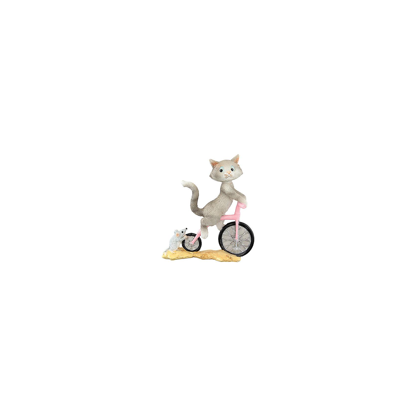 Фигурка декоративная Кот на велосипеде, Elan GalleryПредметы интерьера<br>Характеристики товара:<br><br>• цвет: мульти<br>• материал: полистоун<br>• высота: 10 см<br>• вес: 200 г<br>• подходит к любому интерьеру<br>• отлично проработаны детали<br>• универсальный размер<br>• страна бренда: Российская Федерация<br>• страна производства: Китай<br><br>Такая декоративная фигурка - отличный пример красивой вещи для любого интерьера. Благодаря универсальному дизайну и расцветке она хорошо будет смотреться в помещении.<br><br>Декоративная фигурка может стать отличным приобретением для дома или подарком для любителей симпатичных вещей, украшающих пространство.<br><br>Бренд Elan Gallery - это красивые и практичные товары для дома с современным дизайном. Они добавляют в жильё уюта и комфорта! <br><br>Фигурку декоративную Кот на велосипеде Elan Gallery можно купить в нашем интернет-магазине.<br><br>Ширина мм: 128<br>Глубина мм: 58<br>Высота мм: 111<br>Вес г: 222<br>Возраст от месяцев: 0<br>Возраст до месяцев: 1188<br>Пол: Унисекс<br>Возраст: Детский<br>SKU: 6669000