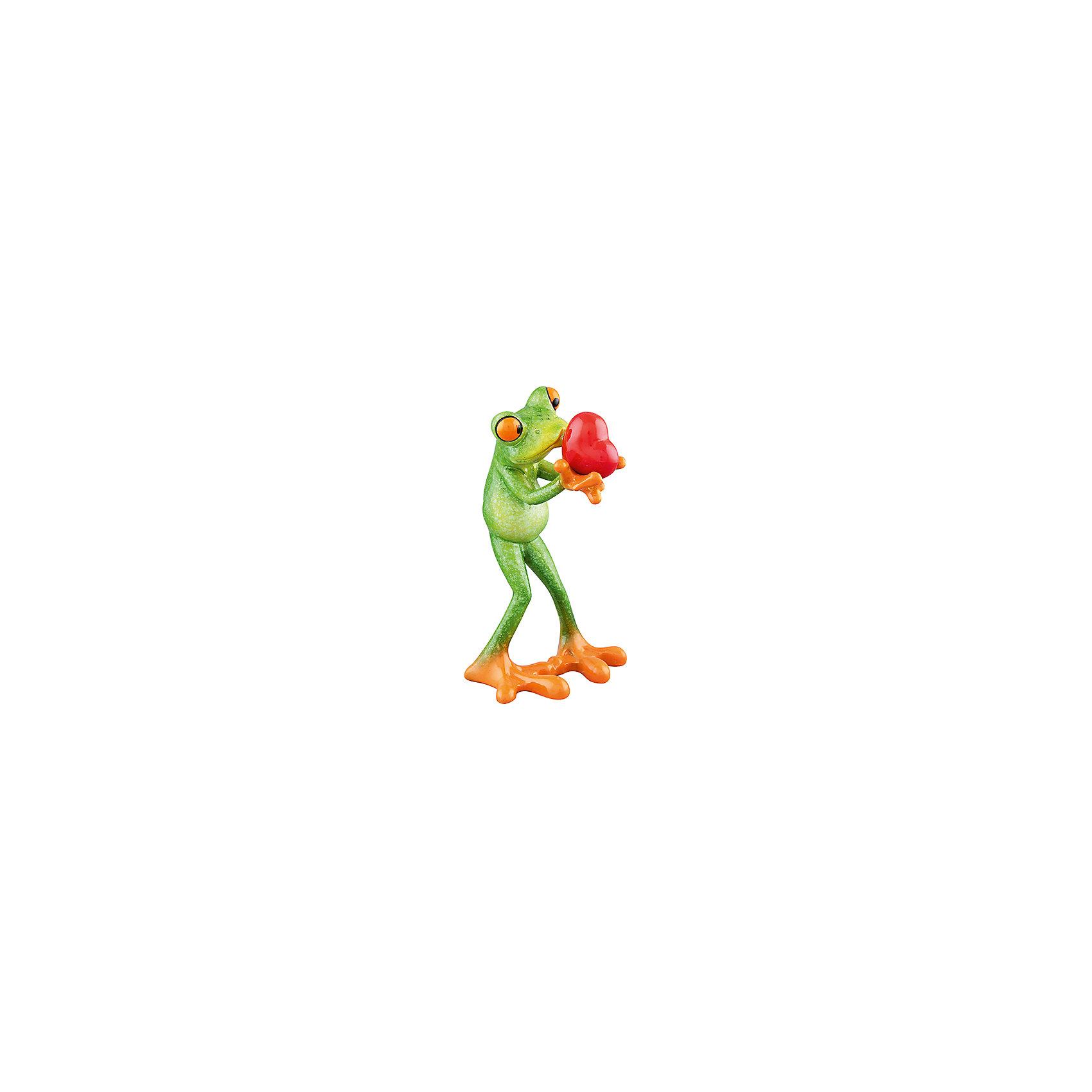 Фигурка декоративная Лягушка с сердцем, Elan GalleryПредметы интерьера<br>Фигурка декоративная  Elan Gallery 8,2*8*14 см. Лягушка с сердцем, Elan Gallery Декоративные фигурки в виде забавных лягушат, изготовленные из полистоуна, станут необычным аксессуаром для вашего интерьера. Эти очаровательные вещицы станут отличным подарком Вашим друзьям и близким.<br><br>Ширина мм: 123<br>Глубина мм: 113<br>Высота мм: 184<br>Вес г: 222<br>Возраст от месяцев: 0<br>Возраст до месяцев: 1188<br>Пол: Унисекс<br>Возраст: Детский<br>SKU: 6669042