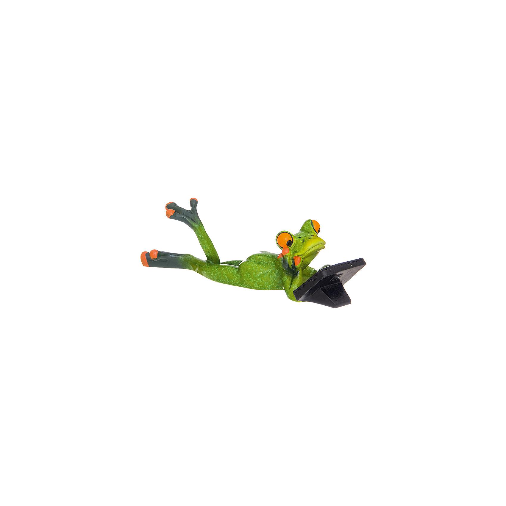 Фигурка декоративная Лягушонок с планшетом, Elan GalleryПредметы интерьера<br>Характеристики товара:<br><br>• цвет: мульти<br>• материал: полистоун<br>• высота: 6 см<br>• вес: 250 г<br>• подходит к любому интерьеру<br>• отлично проработаны детали<br>• универсальный размер<br>• страна бренда: Российская Федерация<br>• страна производства: Китай<br><br>Такая декоративная фигурка - отличный пример красивой вещи для любого интерьера. Благодаря универсальному дизайну и расцветке она хорошо будет смотреться в помещении.<br><br>Декоративная фигурка может стать отличным приобретением для дома или подарком для любителей симпатичных вещей, украшающих пространство.<br><br>Бренд Elan Gallery - это красивые и практичные товары для дома с современным дизайном. Они добавляют в жильё уюта и комфорта! <br><br>Фигурку декоративную Лягушонок с планшетом Elan Gallery можно купить в нашем интернет-магазине.<br><br>Ширина мм: 223<br>Глубина мм: 103<br>Высота мм: 94<br>Вес г: 228<br>Возраст от месяцев: 0<br>Возраст до месяцев: 1188<br>Пол: Унисекс<br>Возраст: Детский<br>SKU: 6669054