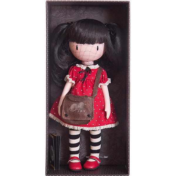 Кукла Горджусс Рубин, 32 см, Paola ReinaКуклы<br>Кукла Горджусс Рубин, 32 см, Paola Reina.<br><br>Характеристики:<br><br>• Для детей в возрасте: от 3 лет<br>• В комплекте: кукла, сумочка, брошюра<br>• Высота куклы: 32 см.<br>• Материалы: кукла изготовлена из винила; глаза выполнены в виде кристалла из твердого пластика; волосы сделаны из высококачественного нейлона; наряд выполнен из качественного текстиля<br>• Упаковка: подарочная картонная коробка с окошком<br><br>Кукла Горджусс Рубин - это уникальная кукла, созданная по образу, который придумала известная художница из Шотландии – Сюзанн Вулкон. Кукла станет любимой подружкой для каждой девочки, а также желанным экспонатом для коллекционера. Рубин одета в красное платье в белый горошек с ажурными оборками, на ножках у нее стильные полосатые гетры и яркие туфли красного цвета. <br><br>Образ модницы Рубин дополнен коричневой сумочкой через плечо с изображением кота. Наряд куклы при необходимости можно снять. Длинные темные волосы куклы из высококачественного нейлона заплетены в озорные хвостики. Волосы блестят, легко расчесываются. <br><br>На лице куклы только глаза и лёгкий румянец — так ей проще стать отражением настроения ребёнка. Ведь этот образ уже сам по себе иллюстрация эмоций. Подобный стиль открывает простор для фантазии — нос, рот и брови можно додумать самостоятельно! <br><br>Кукла имеет пропорциональное телосложение. Голова, руки и ноги подвижны. Тело куклы выполнено из приятного на ощупь высококачественного винила, который имеет лёгкий аромат «английского сада» с нотками жимолости и розы.<br><br>Материалы, из которых изготовлена кукла, прошли все необходимые проверки на безопасность для детей. Качество подтверждено нормами безопасности EN17 ЕЭС. Дополнительно в комплекте с куклой предусмотрена информационная иллюстрированная брошюра.<br><br>Куклу Горджусс Рубин, 32 см, Paola Reina можно купить в нашем интернет-магазине.<br><br>Ширина мм: 375<br>Глубина мм: 175<br>Высота мм: 105<br>Вес г: 820<br>Возраст 