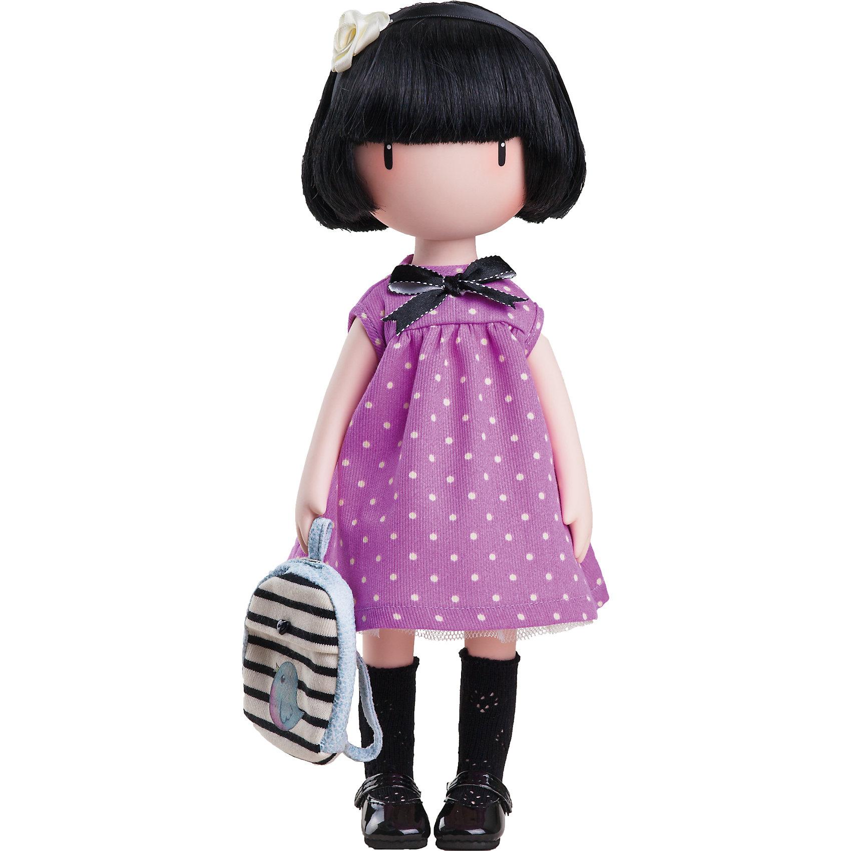 Кукла Горджусс Синяя птица, Paola ReinaКлассические куклы<br>Кукла Горджусс Синяя птица, Paola Reina.<br><br>Характеристики:<br><br>• Для детей в возрасте: от 3 лет<br>• В комплекте: кукла, рюкзак, брошюра<br>• Высота куклы: 32 см.<br>• Материалы: кукла изготовлена из винила; глаза выполнены в виде кристалла из твердого пластика; волосы сделаны из высококачественного нейлона; наряд выполнен из качественного текстиля<br>• Упаковка: подарочная картонная коробка с окошком<br><br>Кукла Горджусс Синяя птица - это уникальная кукла, созданная по образу, который придумала известная художница из Шотландии – Сюзанн Вулкон. Кукла станет любимой подружкой для каждой девочки, а также желанным экспонатом для коллекционера. Кукла одета изящное лиловое платье в горошек с декоративным бантиком. На ногах у куклы черные гольфы и туфельки. <br><br>Образ куклы дополнен полосатым рюкзачком с декоративной аппликацией в виде птички. Наряд куклы при необходимости можно снять. Темные волосы куклы из высококачественного нейлона украшены бантиком. Волосы блестят, легко расчесываются. <br><br>На лице куклы только глаза и лёгкий румянец — так ей проще стать отражением настроения ребёнка. Ведь этот образ уже сам по себе иллюстрация эмоций. Подобный стиль открывает простор для фантазии — нос, рот и брови можно додумать самостоятельно! <br><br>Кукла имеет пропорциональное телосложение. Голова, руки и ноги подвижны. Тело куклы выполнено из приятного на ощупь высококачественного винила, который имеет лёгкий аромат «английского сада» с нотками жимолости и розы. <br><br>Материалы, из которых изготовлена кукла, прошли все необходимые проверки на безопасность для детей. Качество подтверждено нормами безопасности EN17 ЕЭС. Дополнительно в комплекте с куклой предусмотрена информационная иллюстрированная брошюра.<br><br>Куклу Горджусс Синяя птица, Paola Reina можно купить в нашем интернет-магазине.<br><br>Ширина мм: 375<br>Глубина мм: 175<br>Высота мм: 105<br>Вес г: 820<br>Возраст от месяцев: 36<br>Возраст 