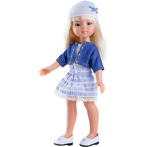 Кукла Маника, 32 см, Paola ReinaКуклы<br>Кукла Маника, 32 см, Paola Reina.<br><br>Характеристики:<br><br>• Для детей в возрасте: от 3 лет<br>• Высота куклы: 32 см.<br>• Глаза не закрываются<br>• Дизайн одежды и обуви — Светланы Кривец<br>• Материалы: кукла изготовлена из винила; глаза выполнены в виде кристалла из прозрачного твердого пластика; волосы сделаны из высококачественного нейлона; наряд выполнен из качественного текстиля<br>• Упаковка: красивая картонная коробка с окошком<br><br>Кукла Маника, Paola Reina- это очаровательная блондинка, которая станет любимой подружкой для вашей девочки. У куклы густые длинные волосы, которые собраны в два хвостика, выполненные из нейлона высокого качества и надёжно прошитые. Волосы блестят, не запутываются. Ваша девочка с легкостью может расчесывать куклу, мыть ей голову, при этом волосы не портятся и не выпадают. <br><br>Лицо куклы выглядит очень правдоподобно за счет тщательно проработанных черт. Большие глаза с длинными ресничками, легкий румянец на щечках, курносый носик и аккуратные губки – Маника завораживает. Глаза куклы не закрываются. <br><br>Маника одета очень красиво и стильно: на ней модное платье небесного цвета, короткая курточка, а дополняет образ куклы шапочка с бантиком. На ножках у куклы белые туфельки. Одежду можно снимать. <br><br>Кукла имеет пропорциональное телосложение. Голова, руки и ноги подвижны. Тело куклы выполнено из приятного на ощупь нежного бархатистого высококачественного винила, который имеет лёгкий аромат ванили. <br><br>Материалы, из которых изготовлена кукла, прошли все необходимые проверки на безопасность для детей. Качество подтверждено нормами безопасности EN71 ЕЭС.<br><br>Куклу Маника, 32 см, Paola Reina можно купить в нашем интернет-магазине.<br>Ширина мм: 375; Глубина мм: 175; Высота мм: 105; Вес г: 625; Возраст от месяцев: 36; Возраст до месяцев: 144; Пол: Женский; Возраст: Детский; SKU: 6671051;