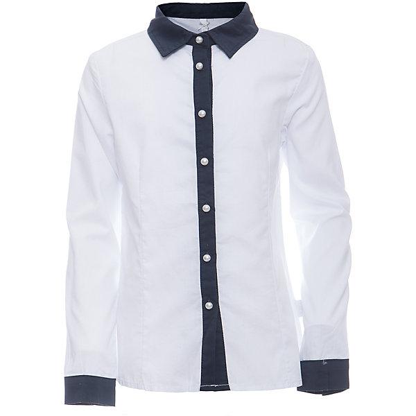 Блузка для девочки LuminosoБлузки и рубашки<br>Характеристики товара:<br><br>• цвет: белый;<br>• состав: 65% хлопок, 32% полиэстер, 3% эластан;<br>• сезон: демисезон;<br>• особенности: школьная, с брошью;<br>• застежка: пуговицы;<br>• с длинным рукавом;<br>• декорирована изящной брошью;<br>• манжеты рукавов на пуговице;<br>• страна бренда: Россия;<br>• страна производства: Китай.<br><br>Школьная блузка с длинным рукавом для девочки. Белая блузка приталенного кроя. Декорированна изящной брошью и контрастной отделкой планки и манжетов на рукавах. Застегивается на пуговки.<br><br>Блузка для девочки Luminoso (Люминосо) можно купить в нашем интернет-магазине.<br><br>Ширина мм: 186<br>Глубина мм: 87<br>Высота мм: 198<br>Вес г: 197<br>Цвет: белый<br>Возраст от месяцев: 132<br>Возраст до месяцев: 144<br>Пол: Женский<br>Возраст: Детский<br>Размер: 152,164,122,128,134,140,146,158<br>SKU: 6672038
