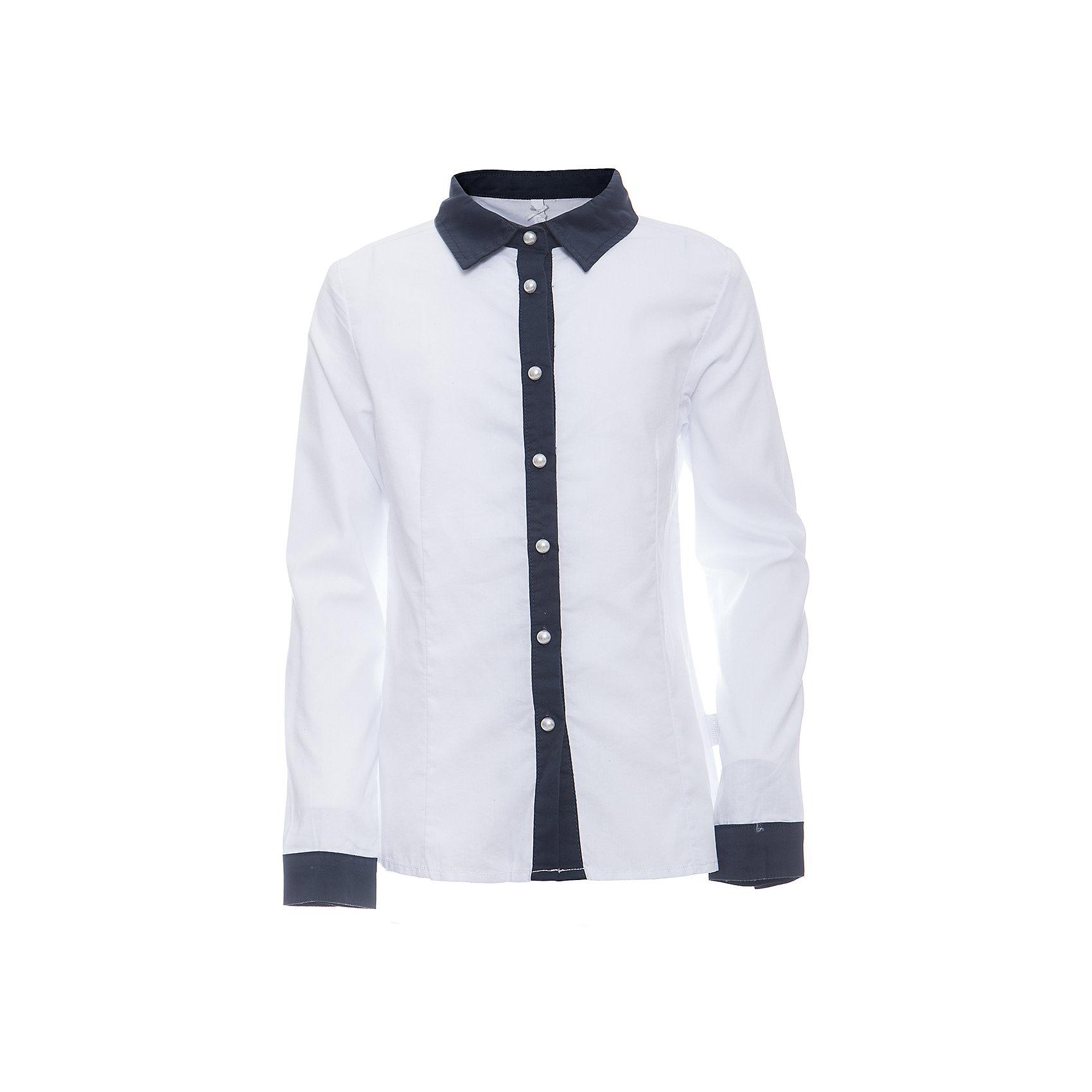 Блузка для девочки LuminosoБлузки и рубашки<br>Характеристики товара:<br><br>• цвет: белый;<br>• состав: 65% хлопок, 32% полиэстер, 3% эластан;<br>• сезон: демисезон;<br>• особенности: школьная, с брошью;<br>• застежка: пуговицы;<br>• с длинным рукавом;<br>• декорирована изящной брошью;<br>• манжеты рукавов на пуговице;<br>• страна бренда: Россия;<br>• страна производства: Китай.<br><br>Школьная блузка с длинным рукавом для девочки. Белая блузка приталенного кроя. Декорированна изящной брошью и контрастной отделкой планки и манжетов на рукавах. Застегивается на пуговки.<br><br>Блузка для девочки Luminoso (Люминосо) можно купить в нашем интернет-магазине.<br><br>Ширина мм: 186<br>Глубина мм: 87<br>Высота мм: 198<br>Вес г: 197<br>Цвет: белый<br>Возраст от месяцев: 96<br>Возраст до месяцев: 108<br>Пол: Женский<br>Возраст: Детский<br>Размер: 134,164,122,128,140,146,152,158<br>SKU: 6672038