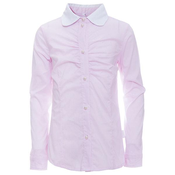 Блузка для девочки LuminosoБлузки и рубашки<br>Характеристики товара:<br><br>• цвет: розовый<br>• состав ткани: 69% хлопок, 28% нейлон, 3% эластан<br>• с длинным рукавом<br>• застежка: пуговицы<br>• манжеты на пуговице<br>• особенности: школьная, в мелкую полоску<br>• страна бренда: Россия<br>• страна производства: Китай<br><br>Школьная блузка с длинным рукавом для девочки. Классическая блузка для девочки в микрополоску бело-розового цвета. Приталенный крой, контрастный отложной воротничок белого цвета. Декоративная, мягкая сборка на планке. Застегивается на пуговки, манжеты рукавов на одной пуговице. Пуговки в виде жемчуга.<br><br>Блузка для девочки Luminoso (Люминосо) можно купить в нашем интернет-магазине.<br><br>Ширина мм: 186<br>Глубина мм: 87<br>Высота мм: 198<br>Вес г: 197<br>Цвет: розовый<br>Возраст от месяцев: 144<br>Возраст до месяцев: 156<br>Пол: Женский<br>Возраст: Детский<br>Размер: 158,146,152,164,122,128,134,140<br>SKU: 6672195