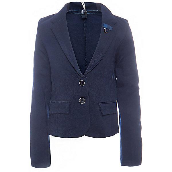 Пиджак для девочки LuminosoПиджаки и костюмы<br>Характеристики товара:<br><br>• цвет: синий;<br>• состав: 65% хлопок 30% полиэстер 5% эластан;<br>• сезон: демисезон;<br>• особенности: школьный, приталенный;<br>• застежка: пуговицы;<br>• без подкладки;<br>• два прорезных кармана;<br>• страна бренда: Россия;<br>• страна производства: Китай.<br><br>Приталенный синий пиджак для девочки из хлопка. Школьный пиджак застегивается на пуговки. Декорирован двумя прорезными карманами.<br><br>Пиджак для девочки Luminoso (Люминосо) можно купить в нашем интернет-магазине.<br>Ширина мм: 190; Глубина мм: 74; Высота мм: 229; Вес г: 236; Цвет: синий; Возраст от месяцев: 72; Возраст до месяцев: 84; Пол: Женский; Возраст: Детский; Размер: 122,164,158,152,146,140,134,128; SKU: 6672743;